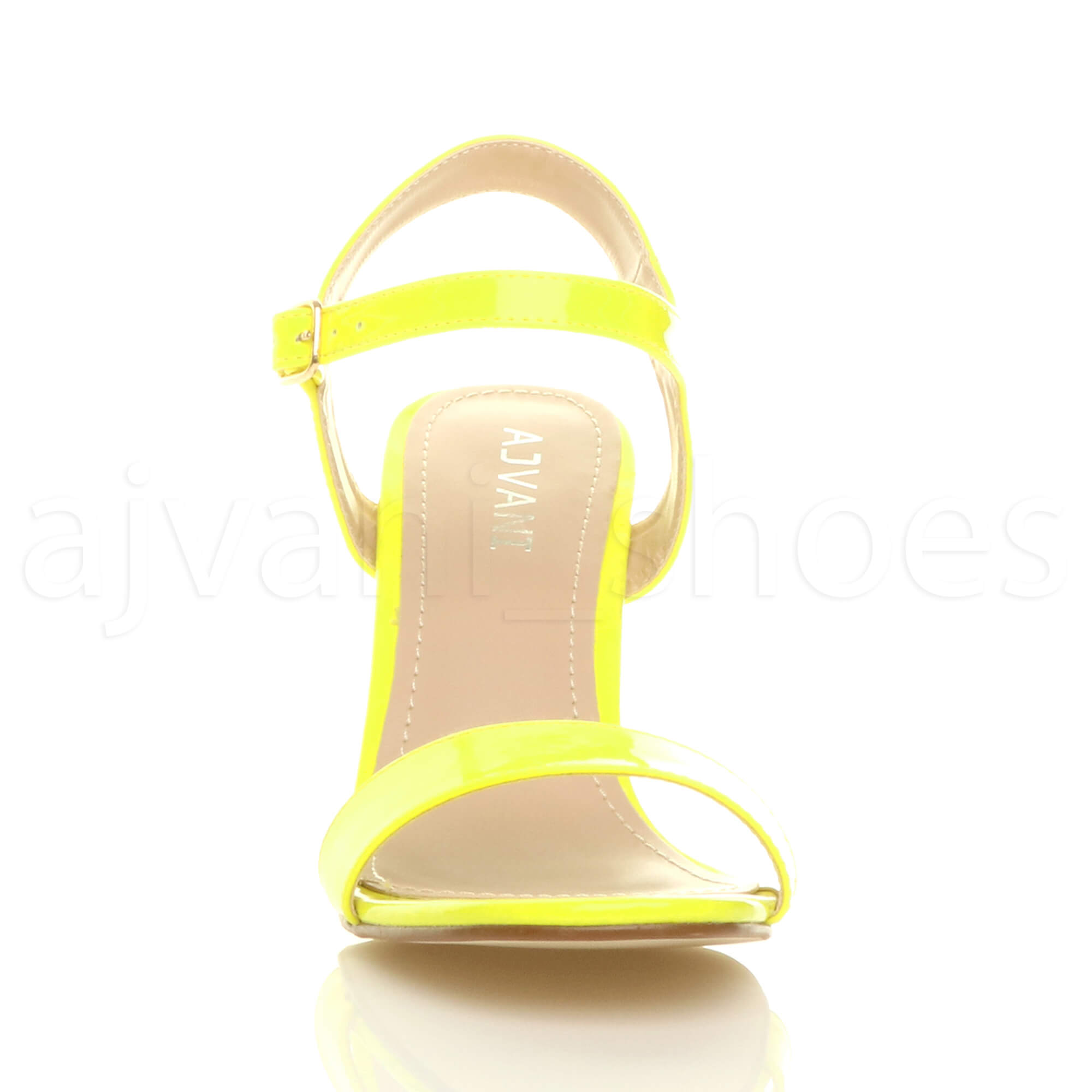 WOMENS-LADIES-HIGH-HEEL-BUCKLE-STRAPPY-BASIC-BARELY-THERE-SANDALS-SHOES-SIZE thumbnail 90