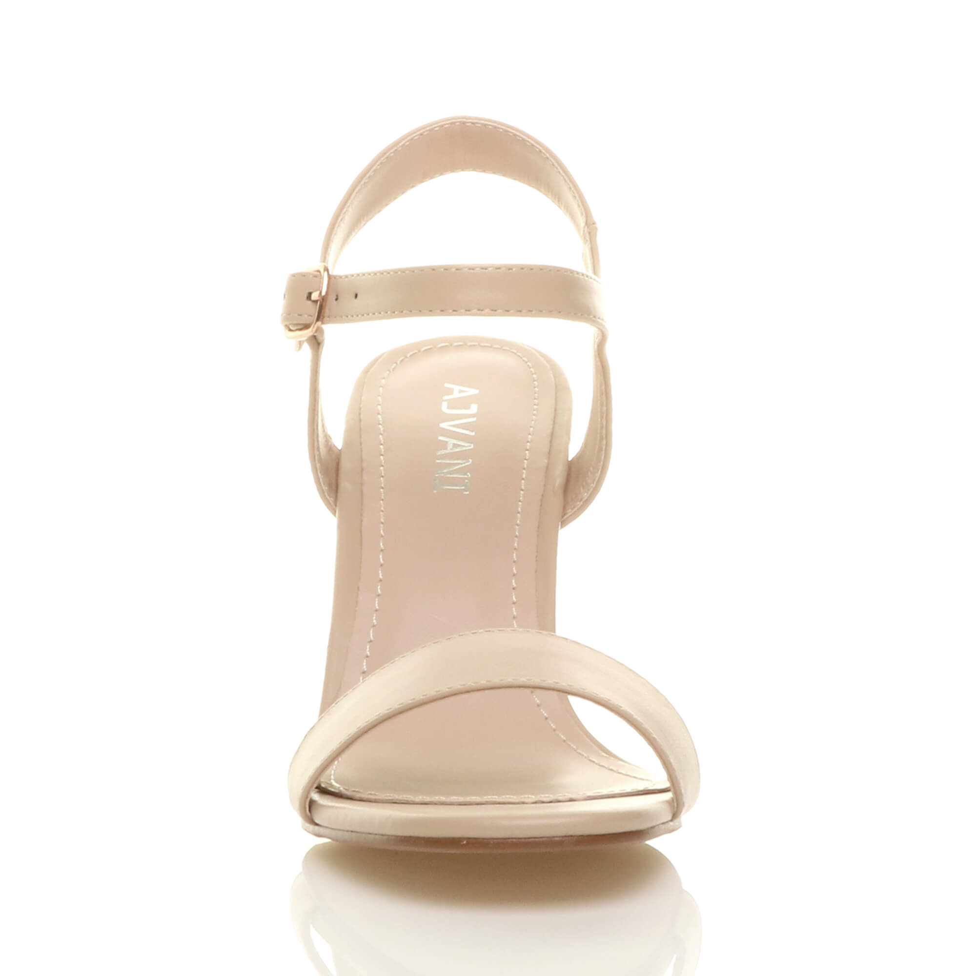 WOMENS-LADIES-HIGH-HEEL-BUCKLE-STRAPPY-BASIC-BARELY-THERE-SANDALS-SHOES-SIZE thumbnail 97