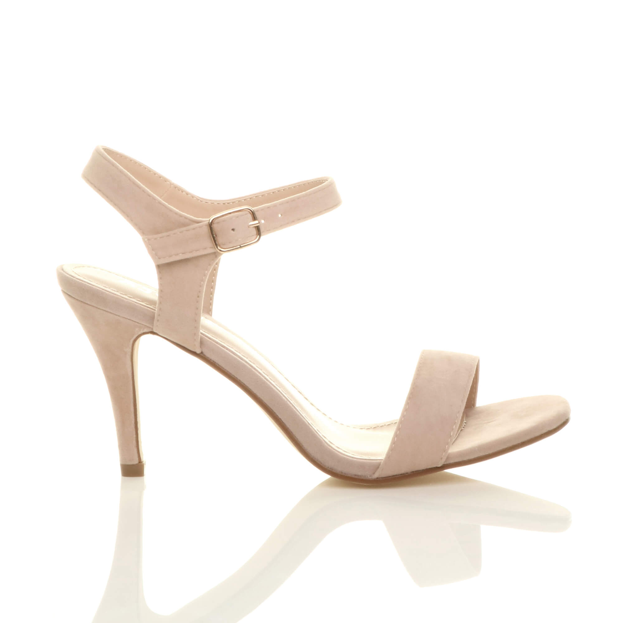WOMENS-LADIES-HIGH-HEEL-BUCKLE-STRAPPY-BASIC-BARELY-THERE-SANDALS-SHOES-SIZE thumbnail 101