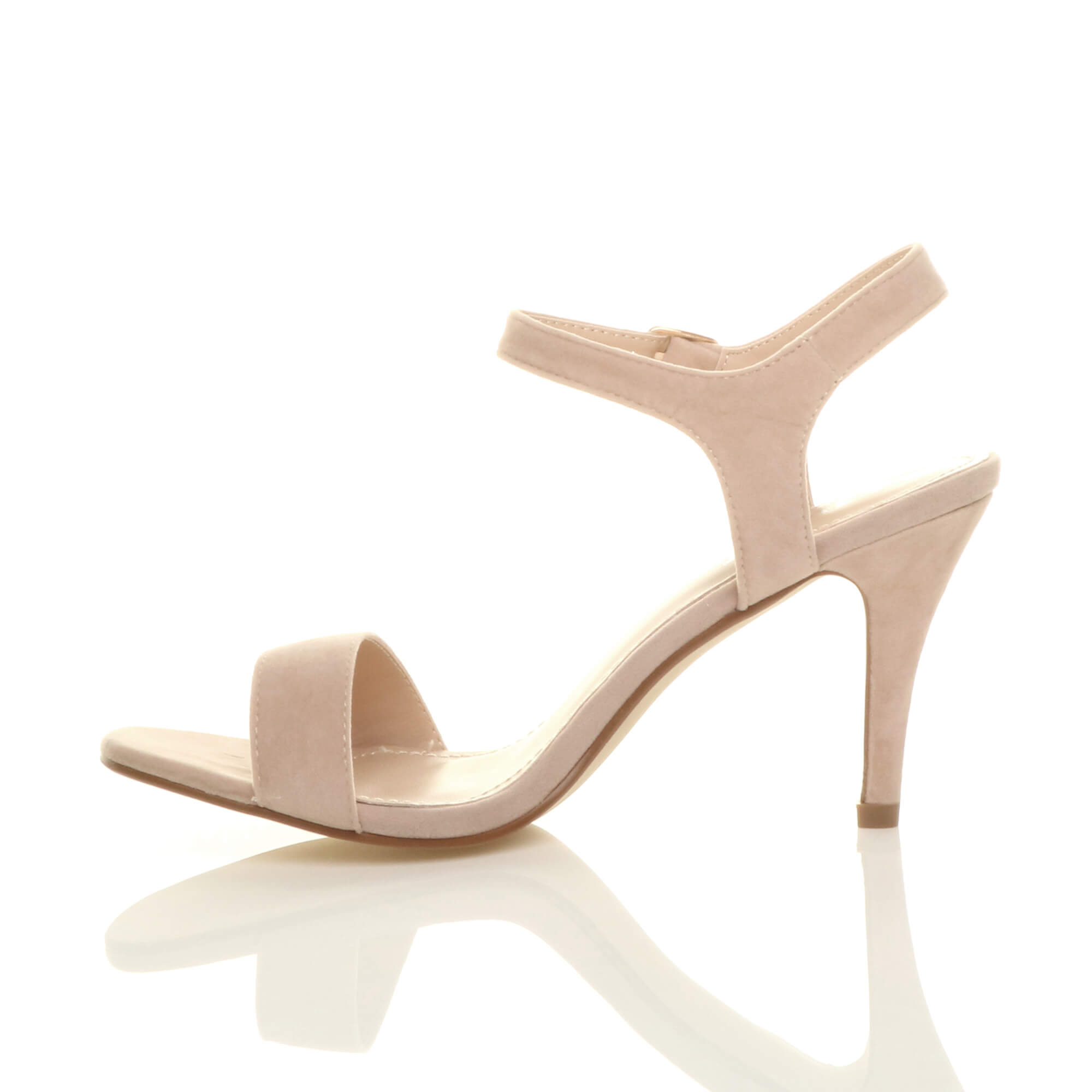 WOMENS-LADIES-HIGH-HEEL-BUCKLE-STRAPPY-BASIC-BARELY-THERE-SANDALS-SHOES-SIZE thumbnail 102