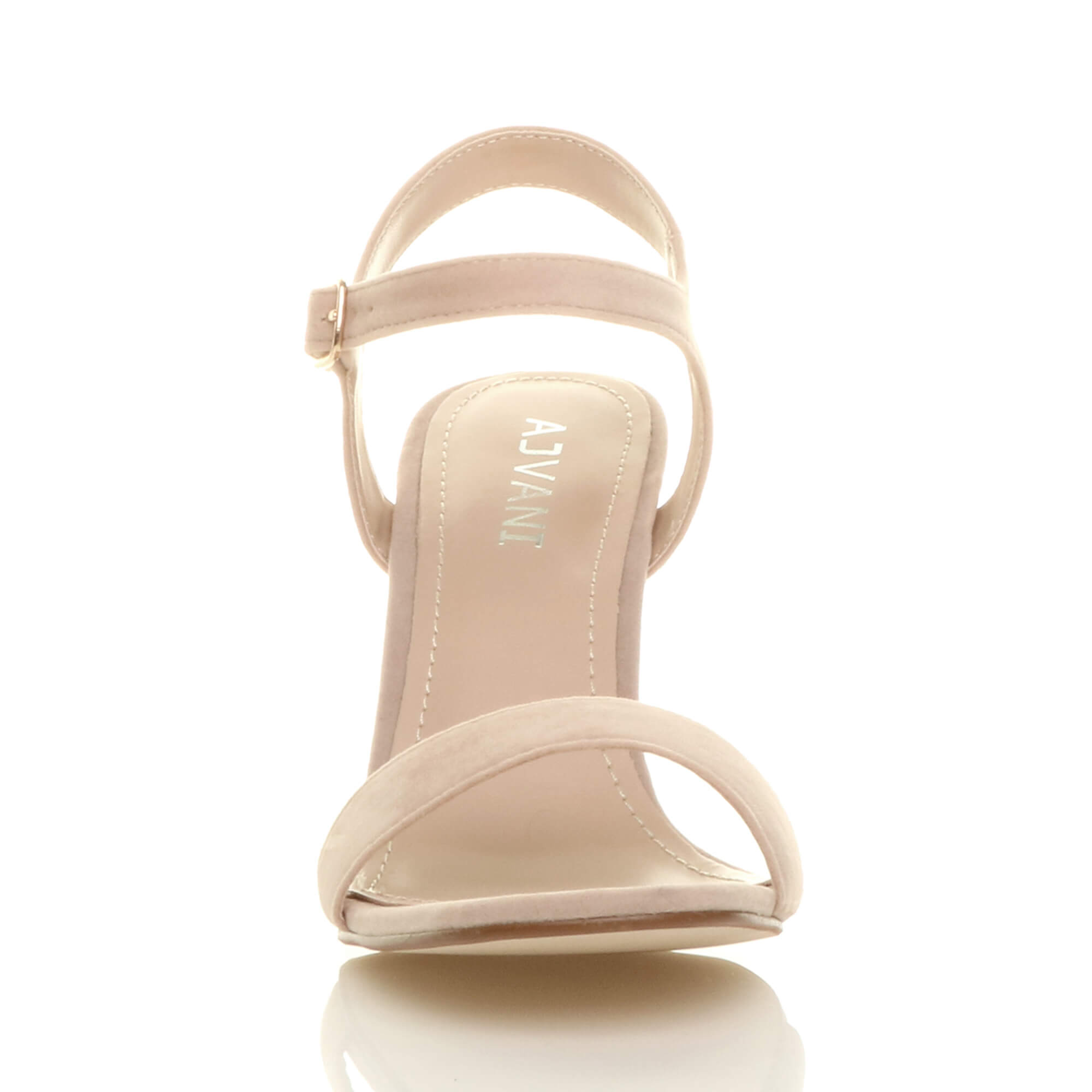WOMENS-LADIES-HIGH-HEEL-BUCKLE-STRAPPY-BASIC-BARELY-THERE-SANDALS-SHOES-SIZE thumbnail 104