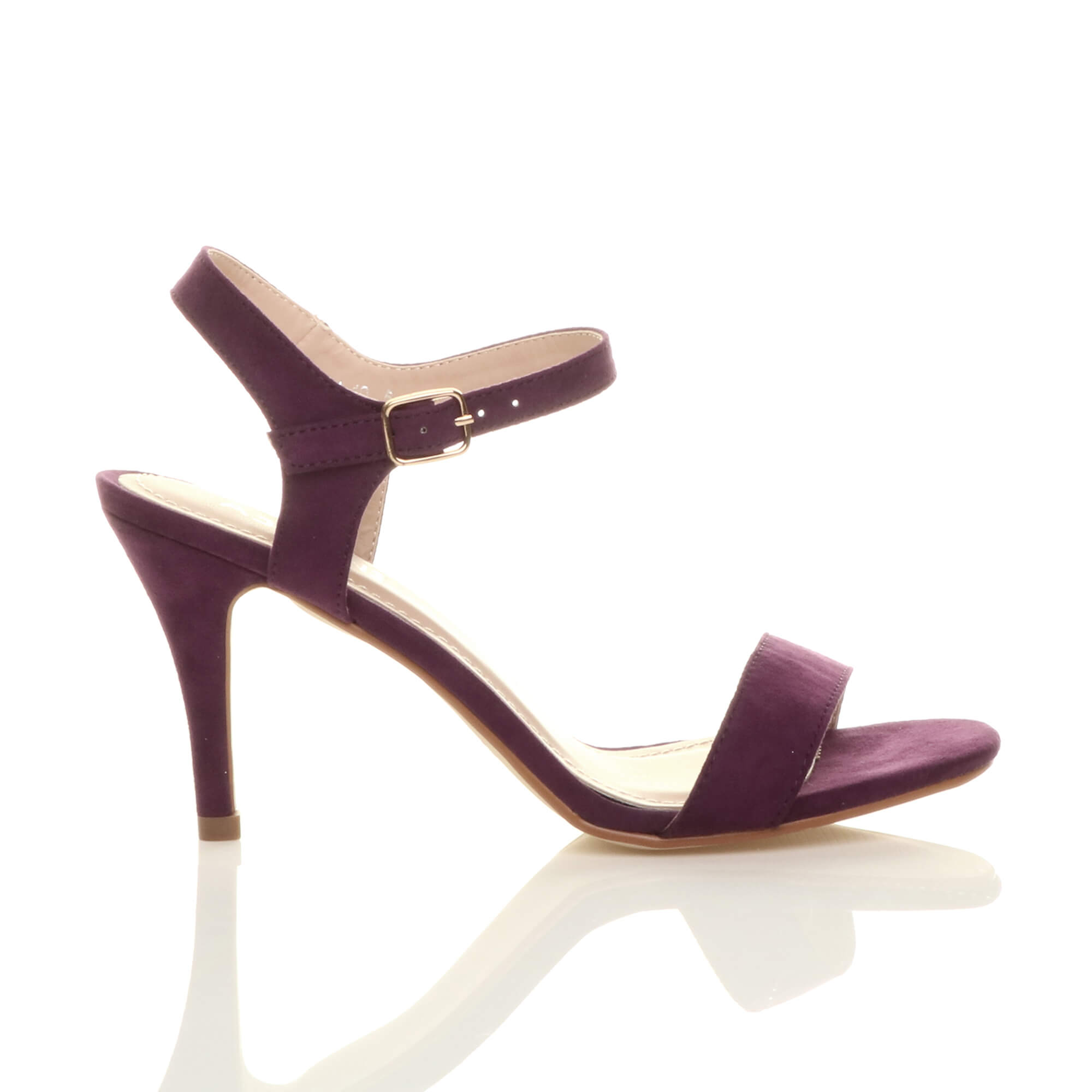 WOMENS-LADIES-HIGH-HEEL-BUCKLE-STRAPPY-BASIC-BARELY-THERE-SANDALS-SHOES-SIZE thumbnail 108