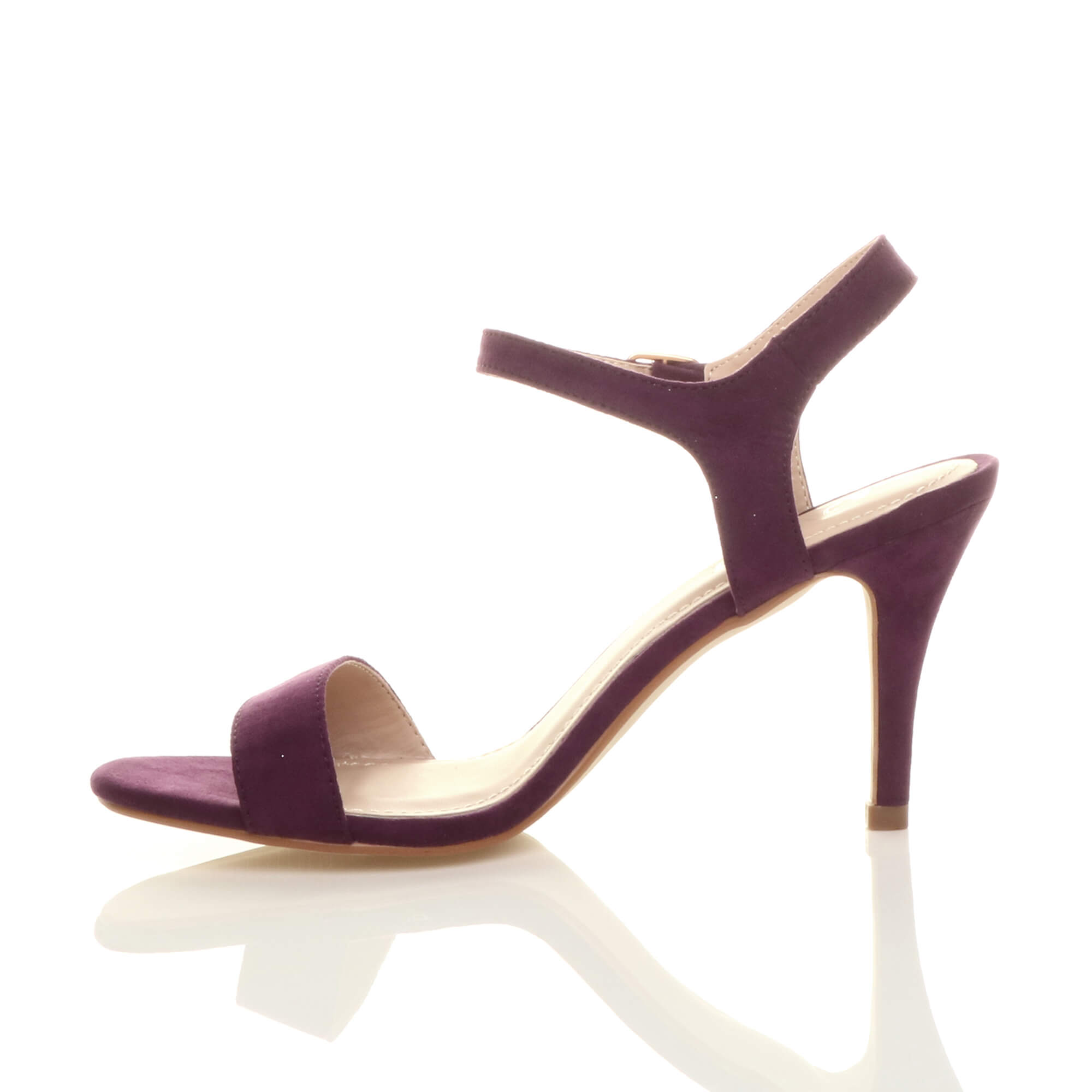 WOMENS-LADIES-HIGH-HEEL-BUCKLE-STRAPPY-BASIC-BARELY-THERE-SANDALS-SHOES-SIZE thumbnail 109