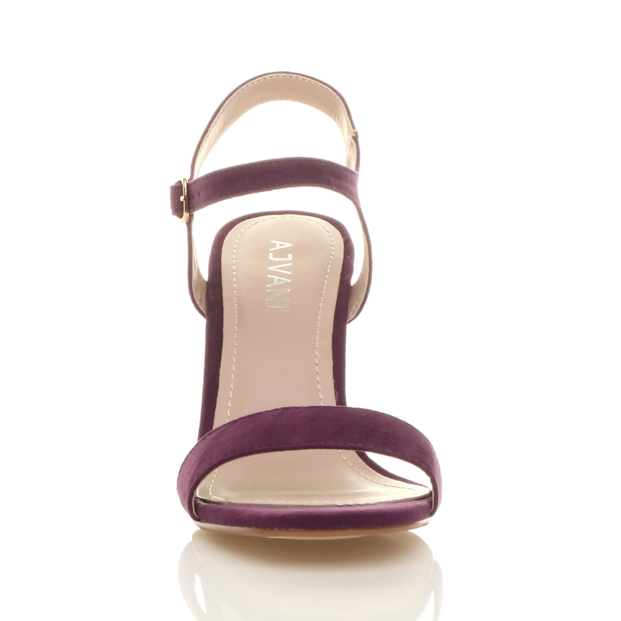 WOMENS-LADIES-HIGH-HEEL-BUCKLE-STRAPPY-BASIC-BARELY-THERE-SANDALS-SHOES-SIZE thumbnail 111