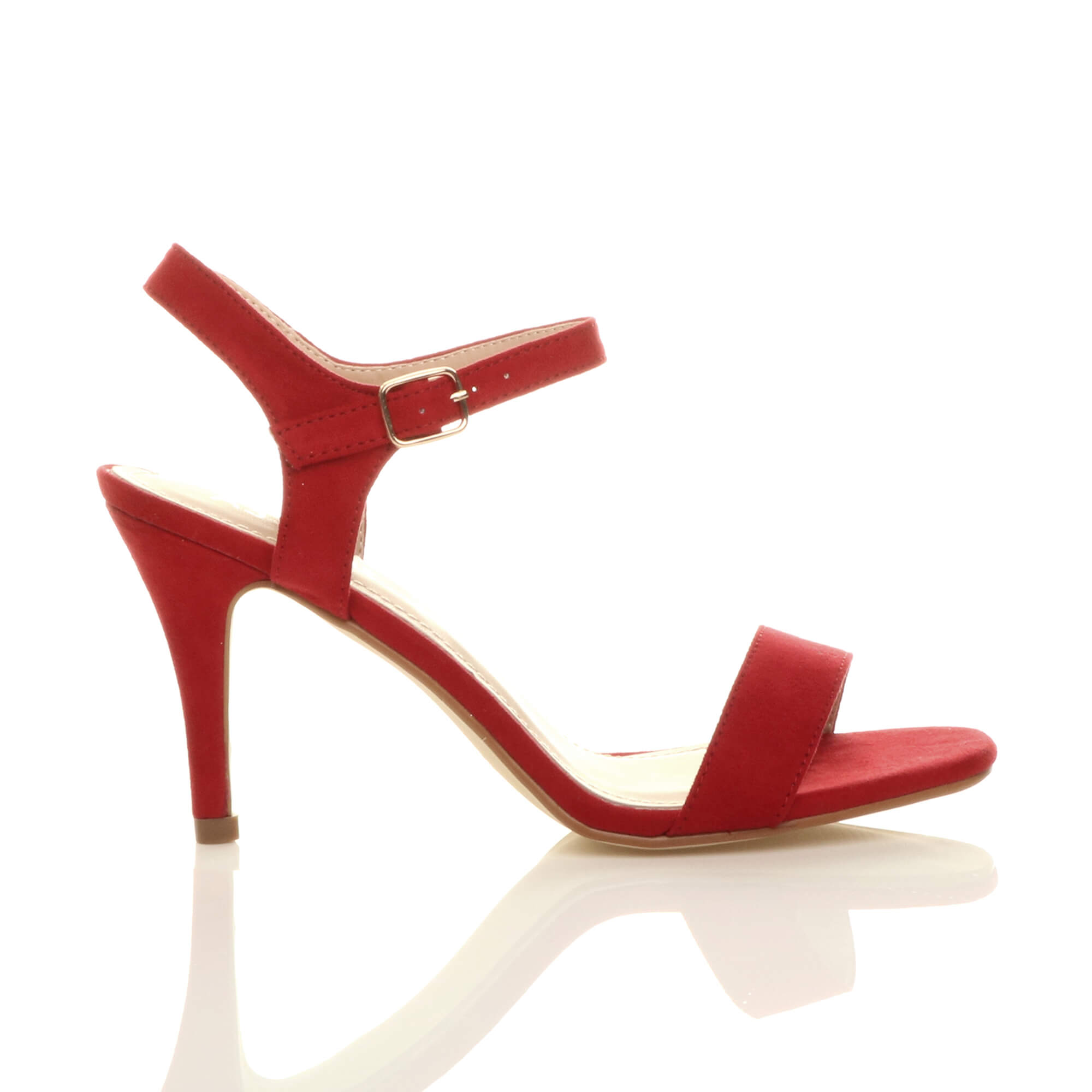 WOMENS-LADIES-HIGH-HEEL-BUCKLE-STRAPPY-BASIC-BARELY-THERE-SANDALS-SHOES-SIZE thumbnail 115