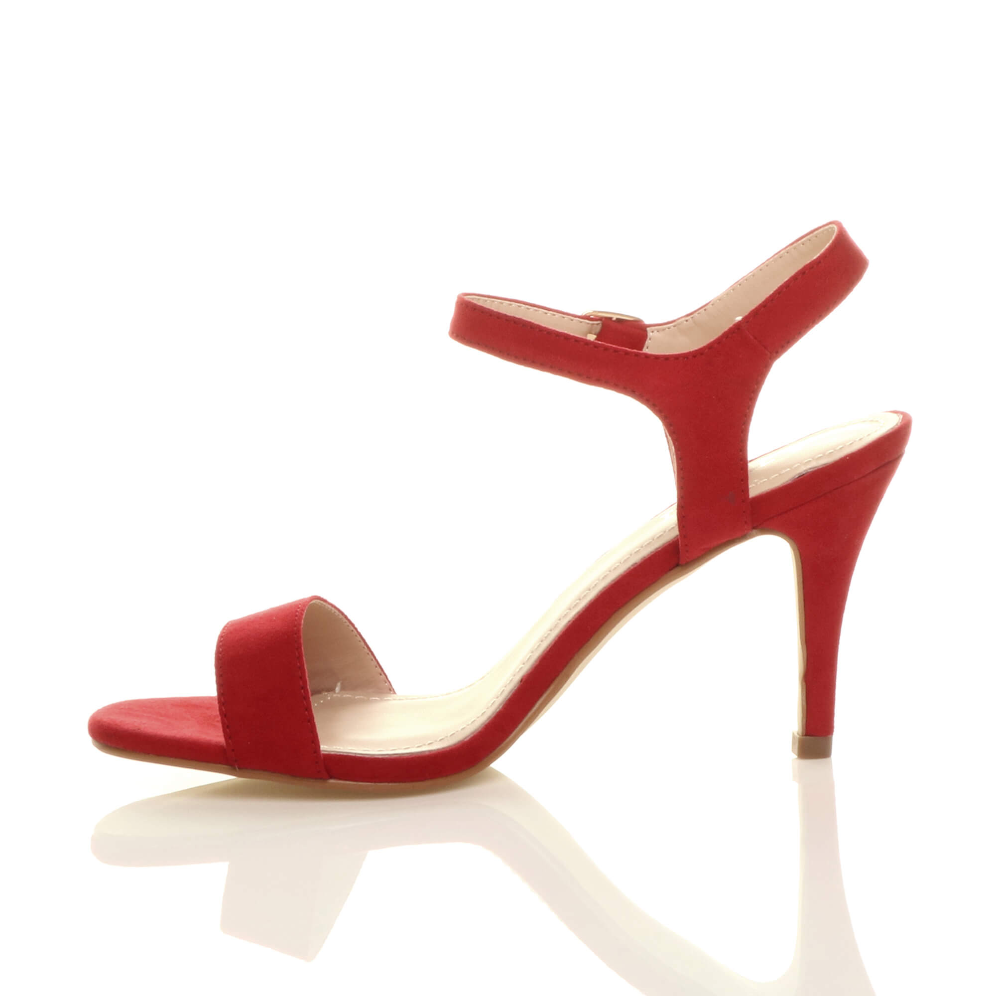 WOMENS-LADIES-HIGH-HEEL-BUCKLE-STRAPPY-BASIC-BARELY-THERE-SANDALS-SHOES-SIZE thumbnail 116