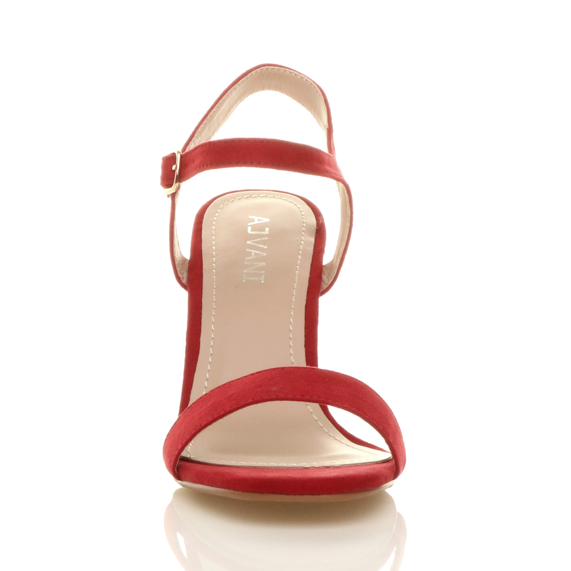 WOMENS-LADIES-HIGH-HEEL-BUCKLE-STRAPPY-BASIC-BARELY-THERE-SANDALS-SHOES-SIZE thumbnail 118