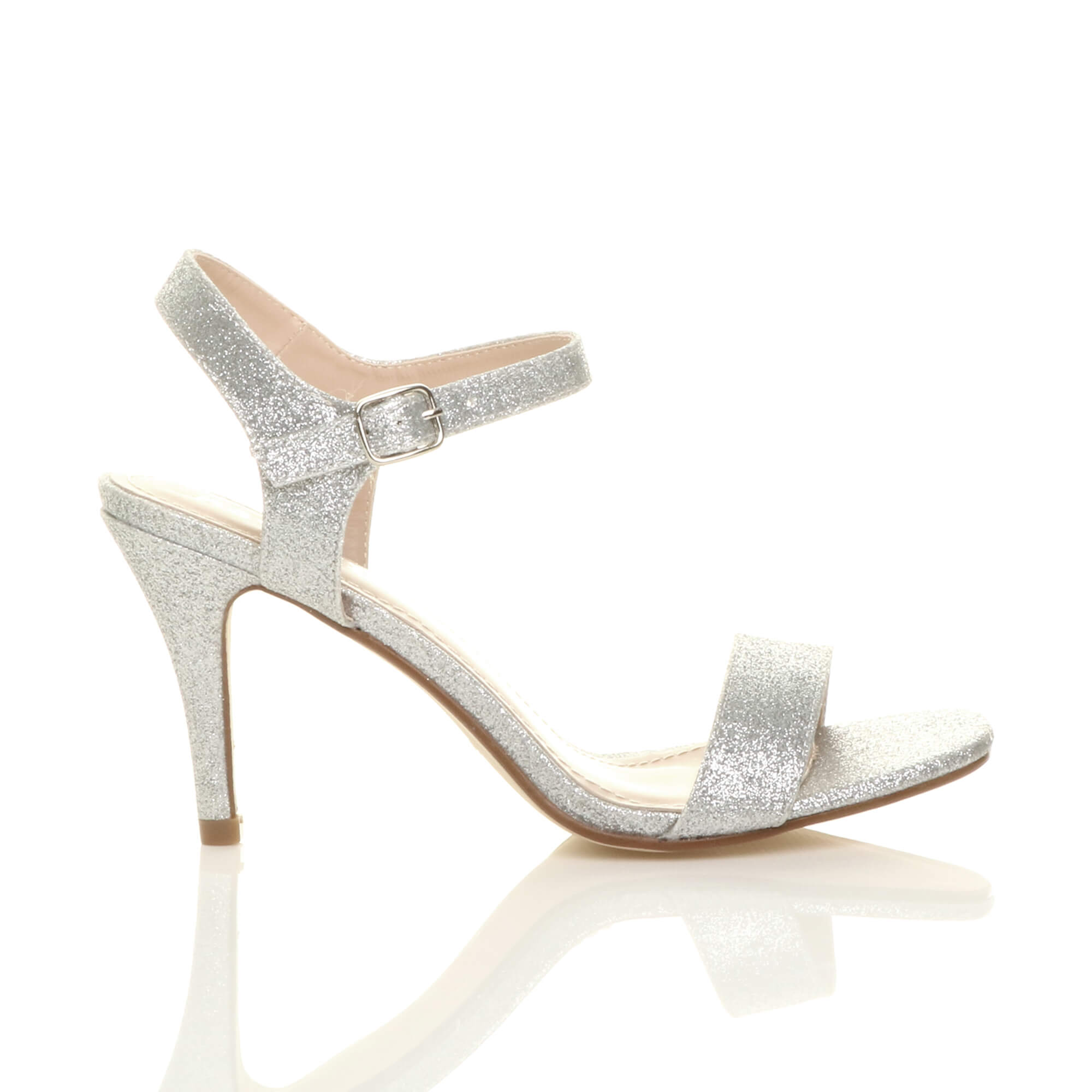WOMENS-LADIES-HIGH-HEEL-BUCKLE-STRAPPY-BASIC-BARELY-THERE-SANDALS-SHOES-SIZE thumbnail 122