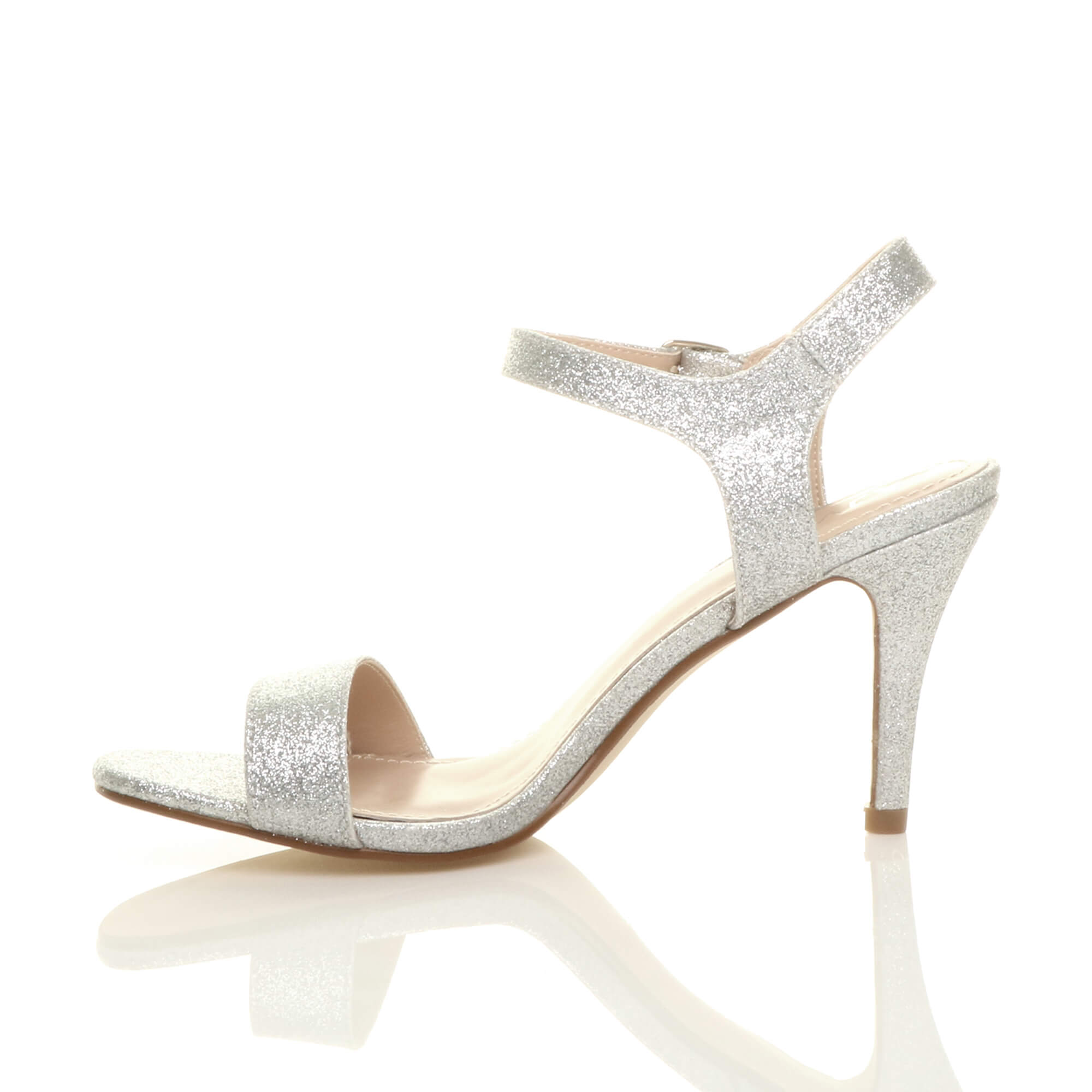 WOMENS-LADIES-HIGH-HEEL-BUCKLE-STRAPPY-BASIC-BARELY-THERE-SANDALS-SHOES-SIZE thumbnail 123