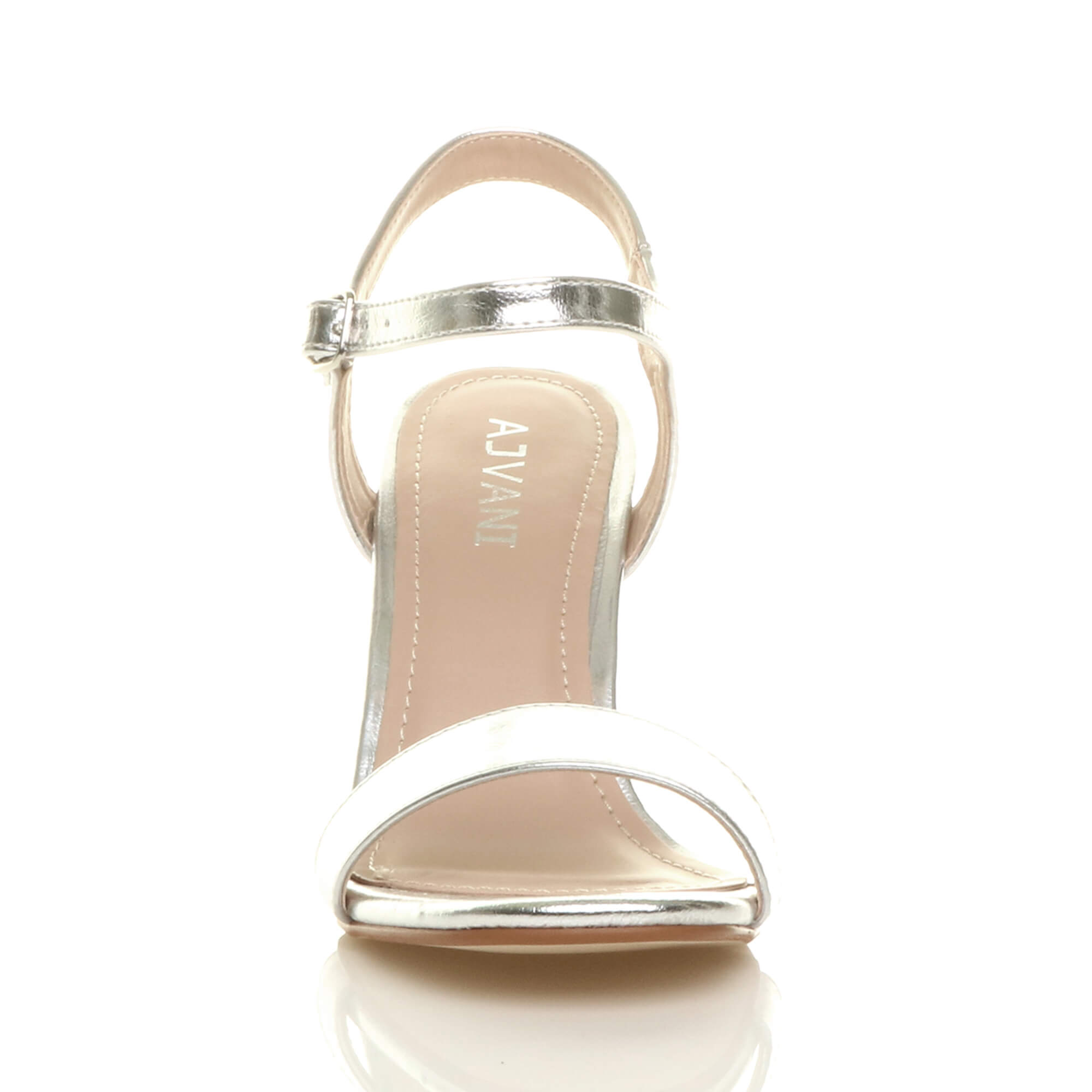 WOMENS-LADIES-HIGH-HEEL-BUCKLE-STRAPPY-BASIC-BARELY-THERE-SANDALS-SHOES-SIZE thumbnail 132