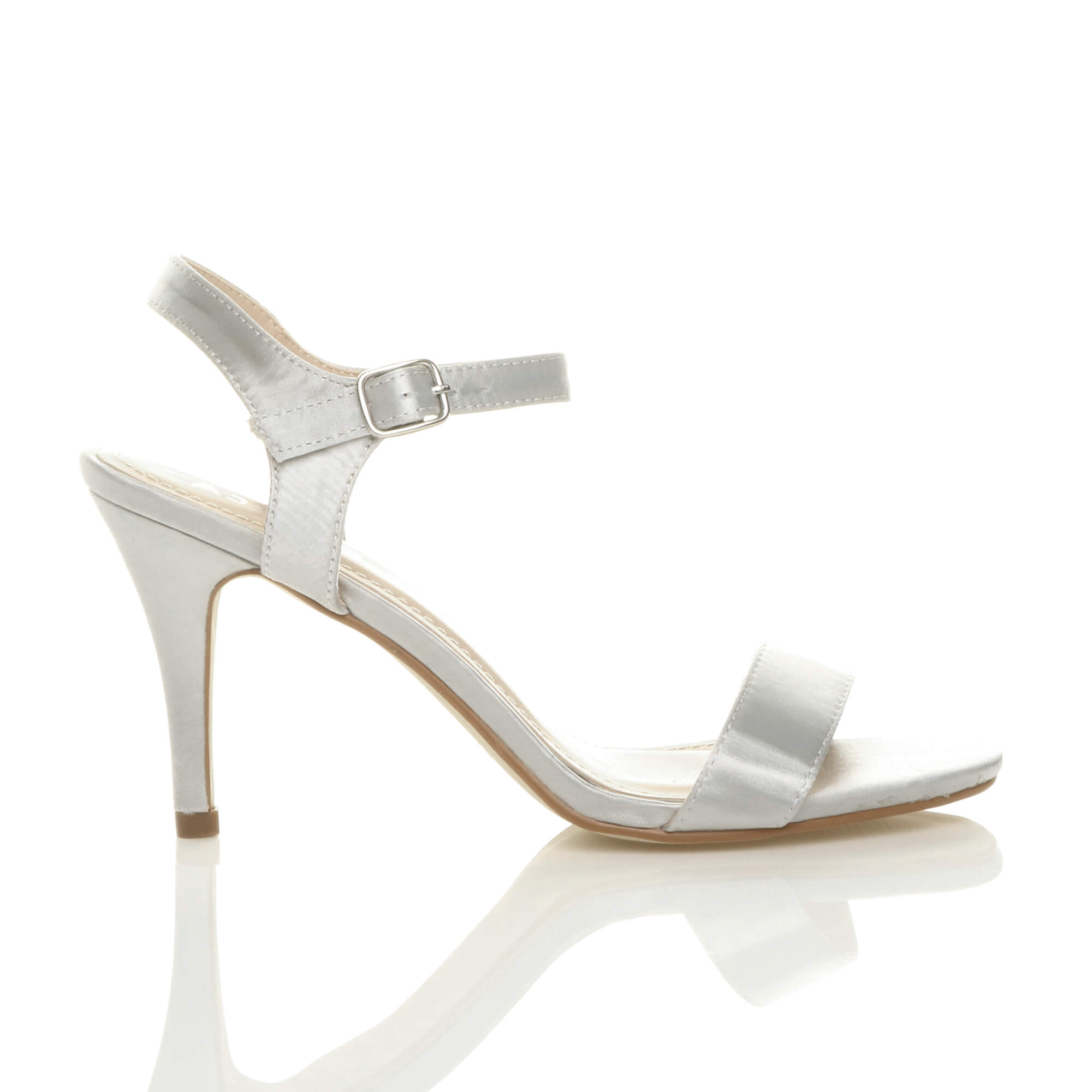 WOMENS-LADIES-HIGH-HEEL-BUCKLE-STRAPPY-BASIC-BARELY-THERE-SANDALS-SHOES-SIZE thumbnail 136