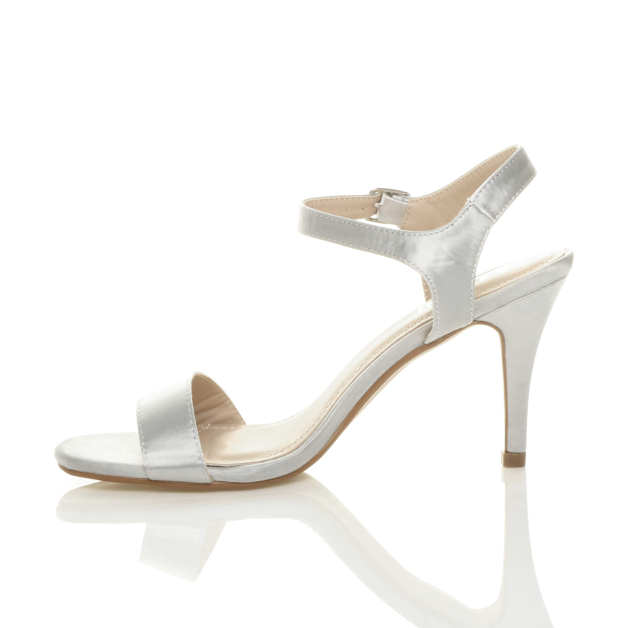 WOMENS-LADIES-HIGH-HEEL-BUCKLE-STRAPPY-BASIC-BARELY-THERE-SANDALS-SHOES-SIZE thumbnail 137