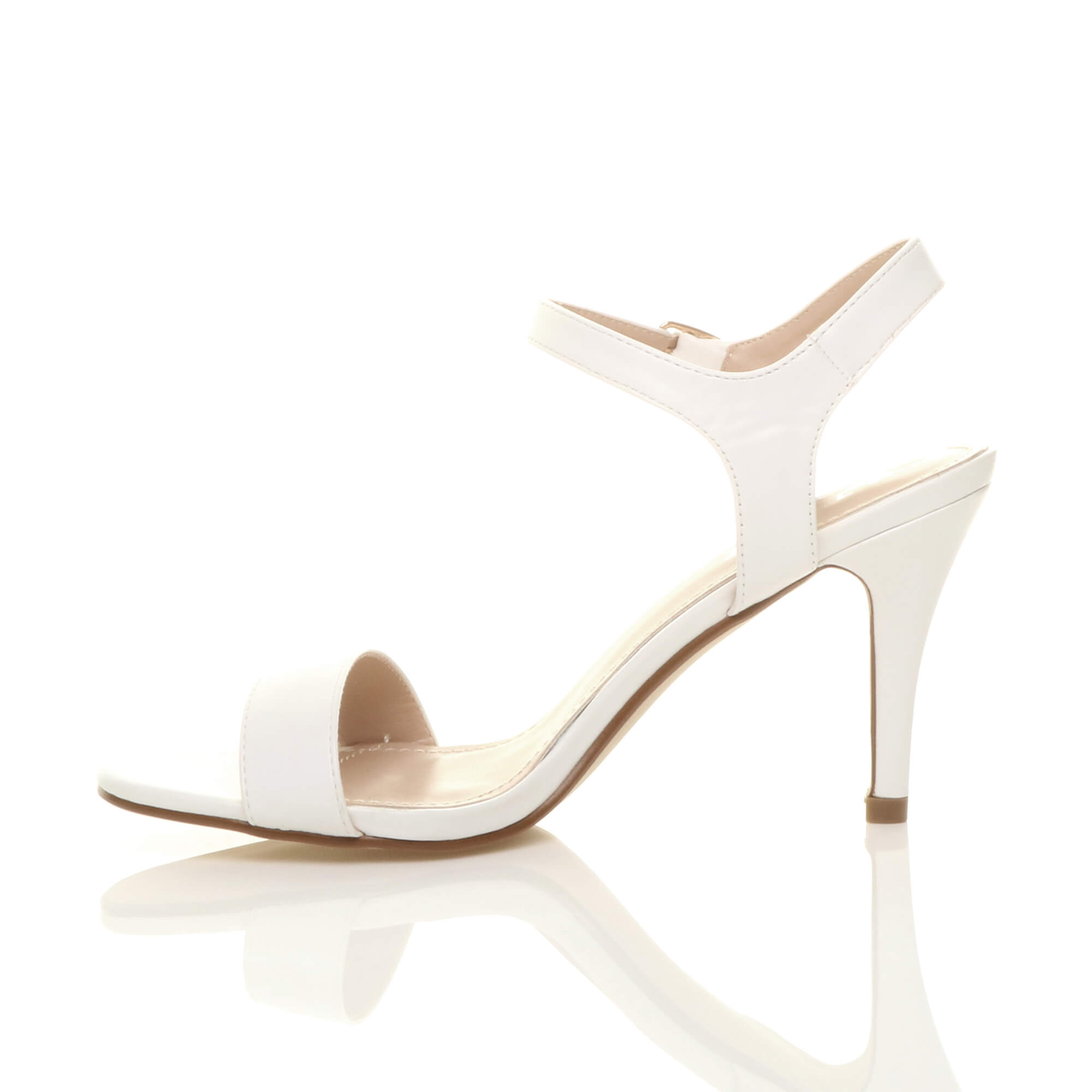 WOMENS-LADIES-HIGH-HEEL-BUCKLE-STRAPPY-BASIC-BARELY-THERE-SANDALS-SHOES-SIZE thumbnail 144