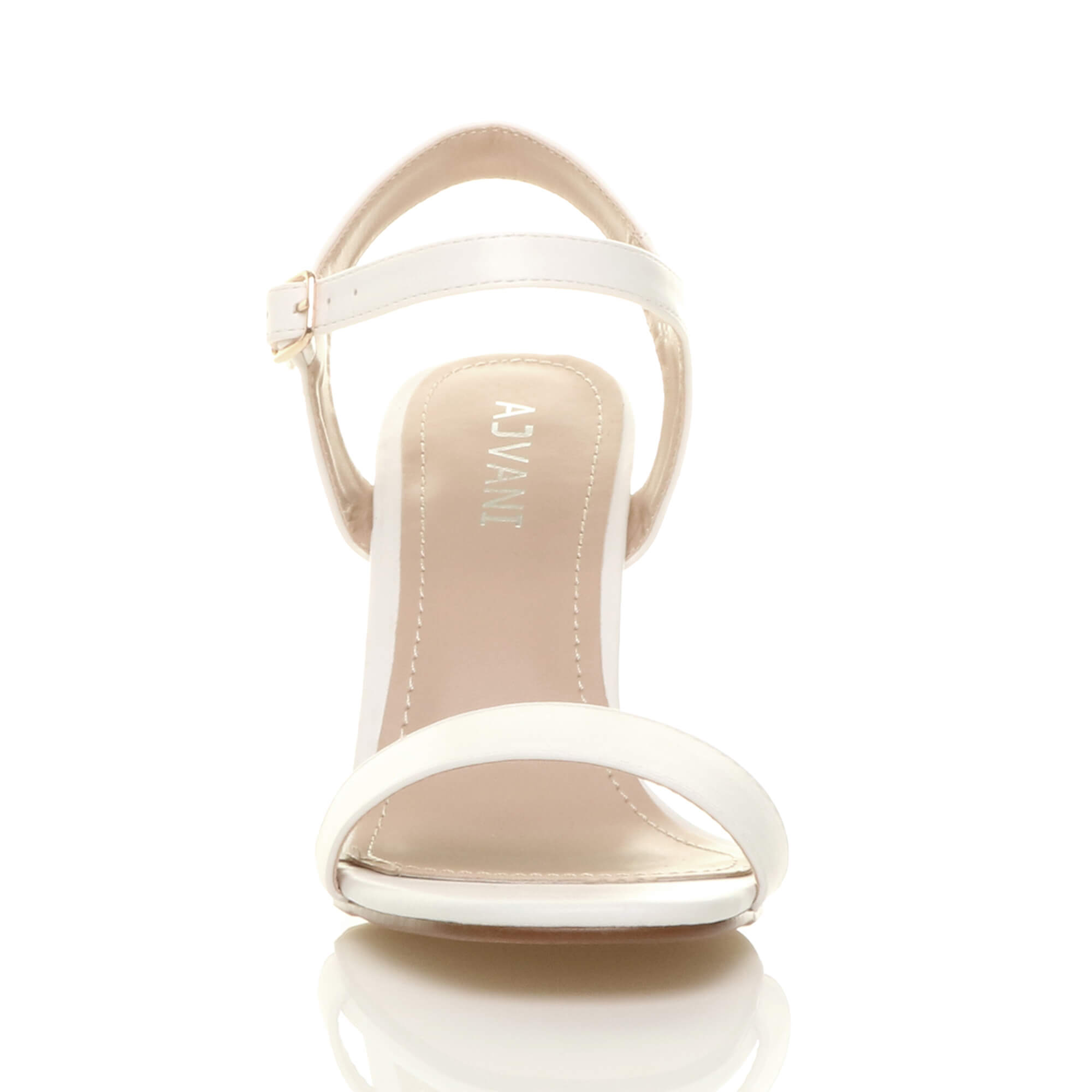WOMENS-LADIES-HIGH-HEEL-BUCKLE-STRAPPY-BASIC-BARELY-THERE-SANDALS-SHOES-SIZE thumbnail 146