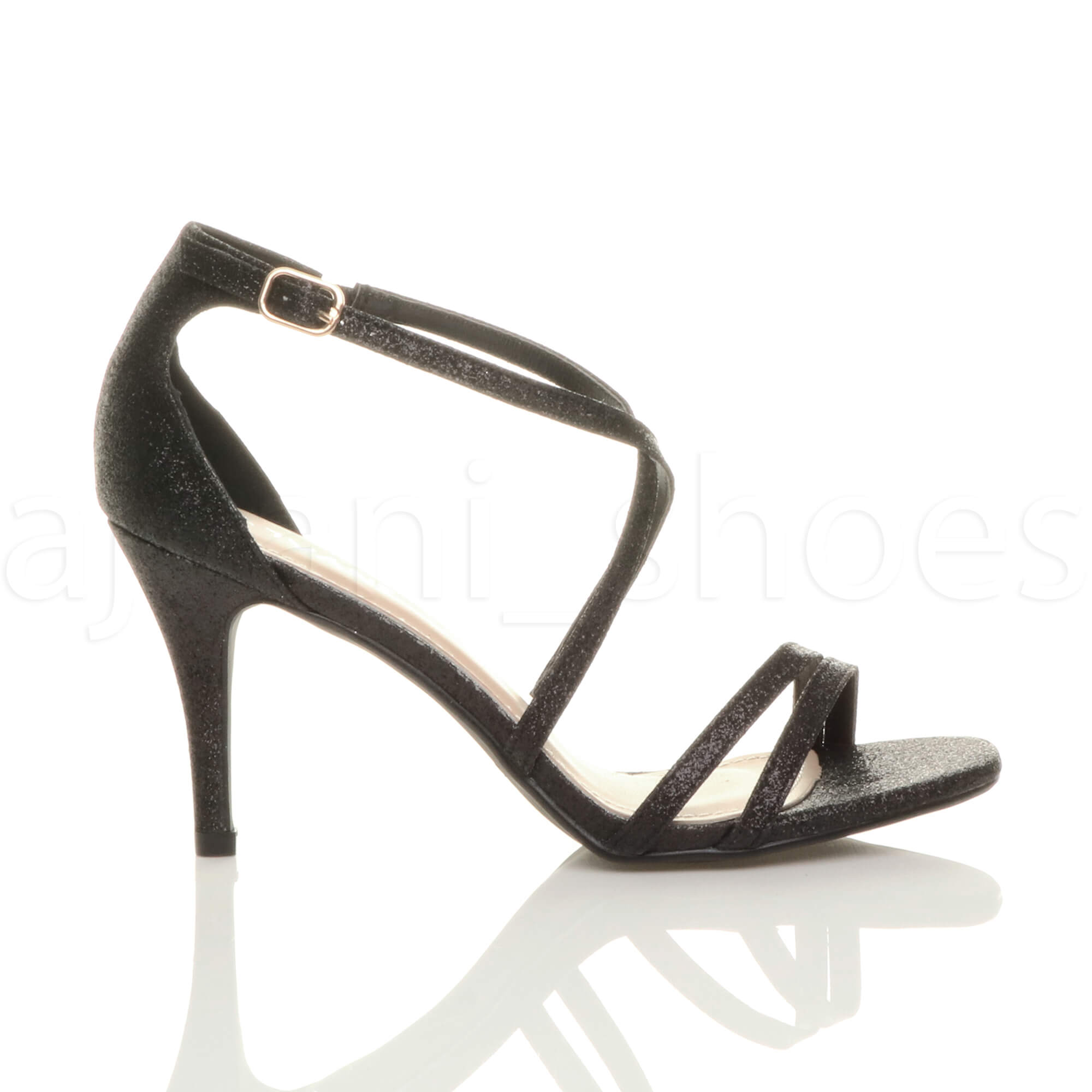 WOMENS-LADIES-MID-HIGH-HEEL-STRAPPY-CROSSOVER-WEDDING-PROM-SANDALS-SHOES-SIZE thumbnail 10