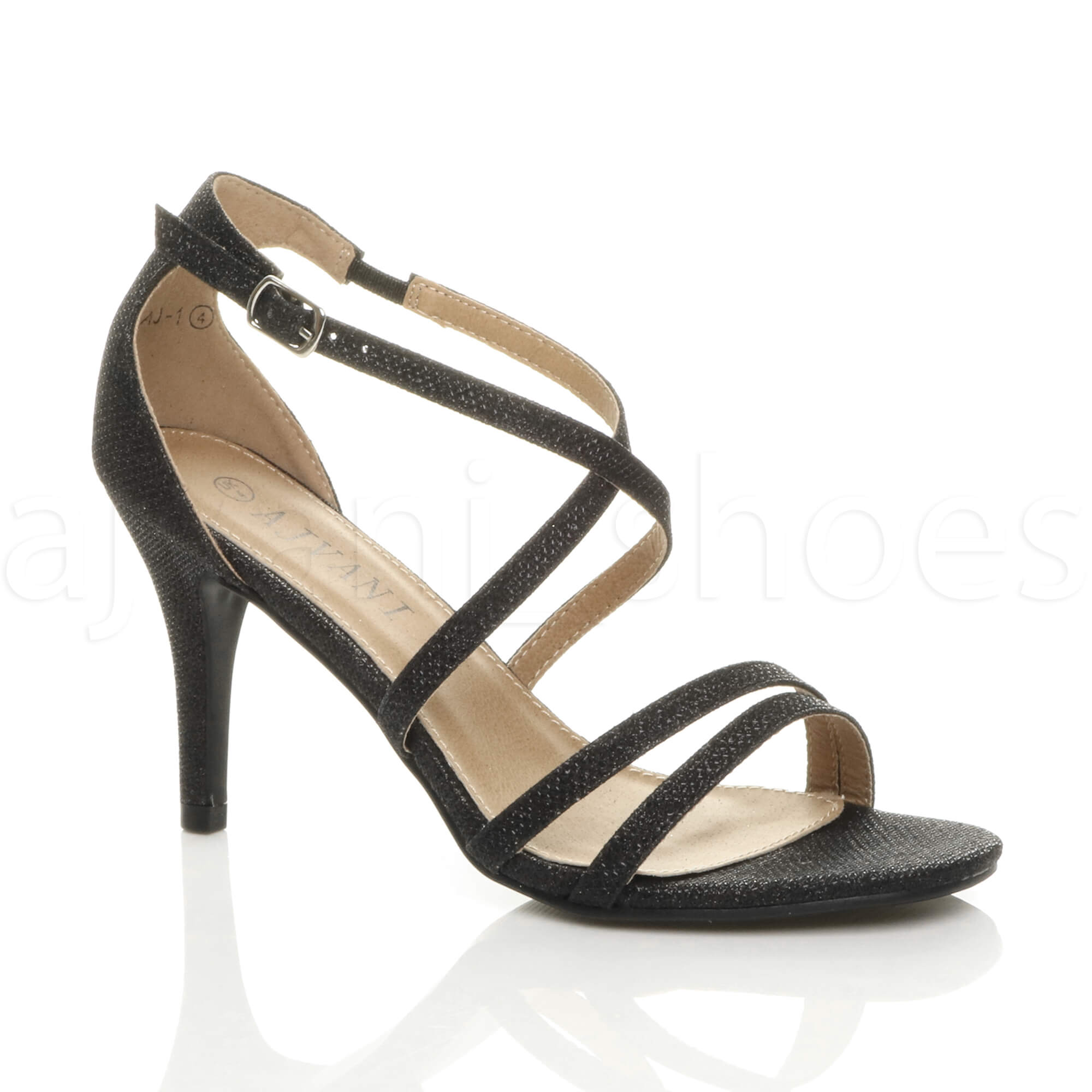 WOMENS-LADIES-MID-HIGH-HEEL-STRAPPY-CROSSOVER-WEDDING-PROM-SANDALS-SHOES-SIZE thumbnail 23