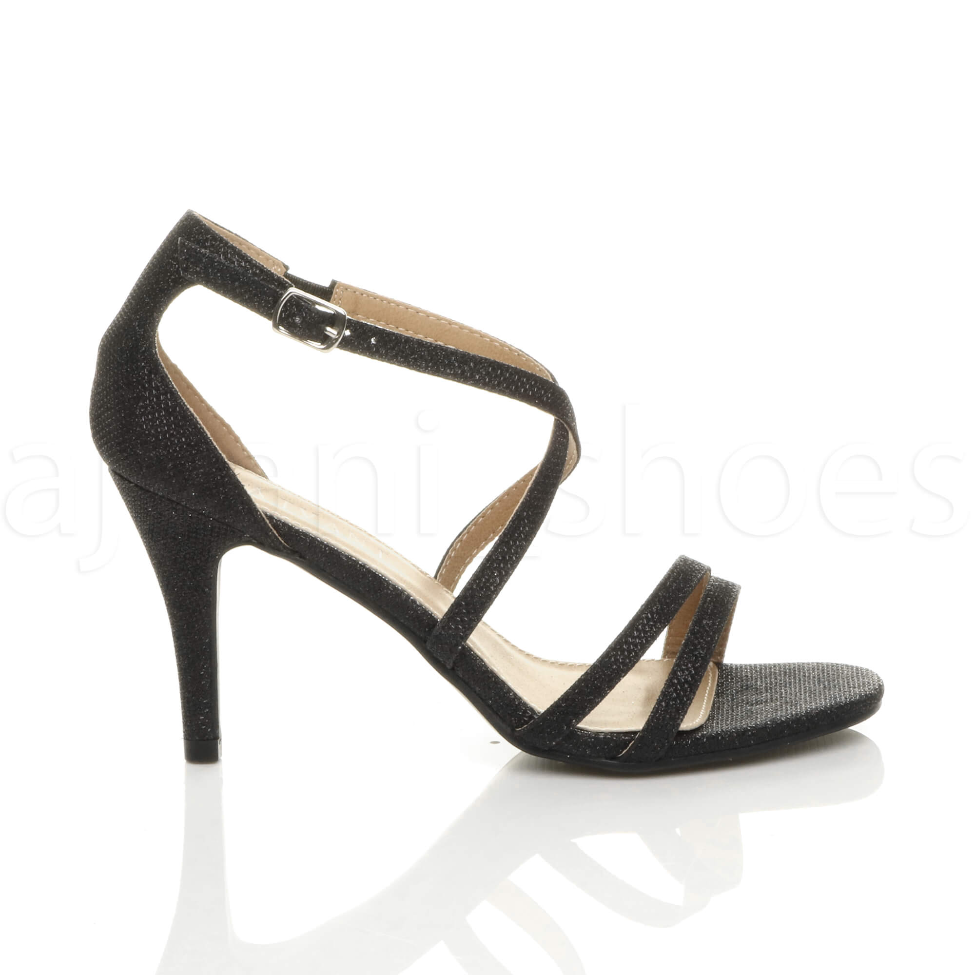 WOMENS-LADIES-MID-HIGH-HEEL-STRAPPY-CROSSOVER-WEDDING-PROM-SANDALS-SHOES-SIZE thumbnail 24