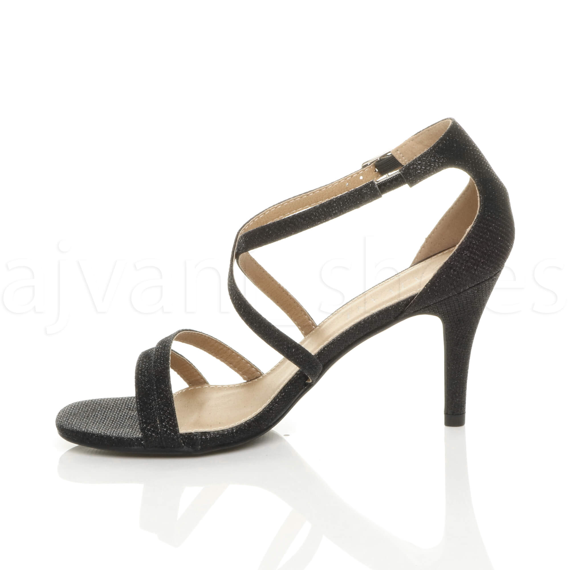 WOMENS-LADIES-MID-HIGH-HEEL-STRAPPY-CROSSOVER-WEDDING-PROM-SANDALS-SHOES-SIZE thumbnail 25
