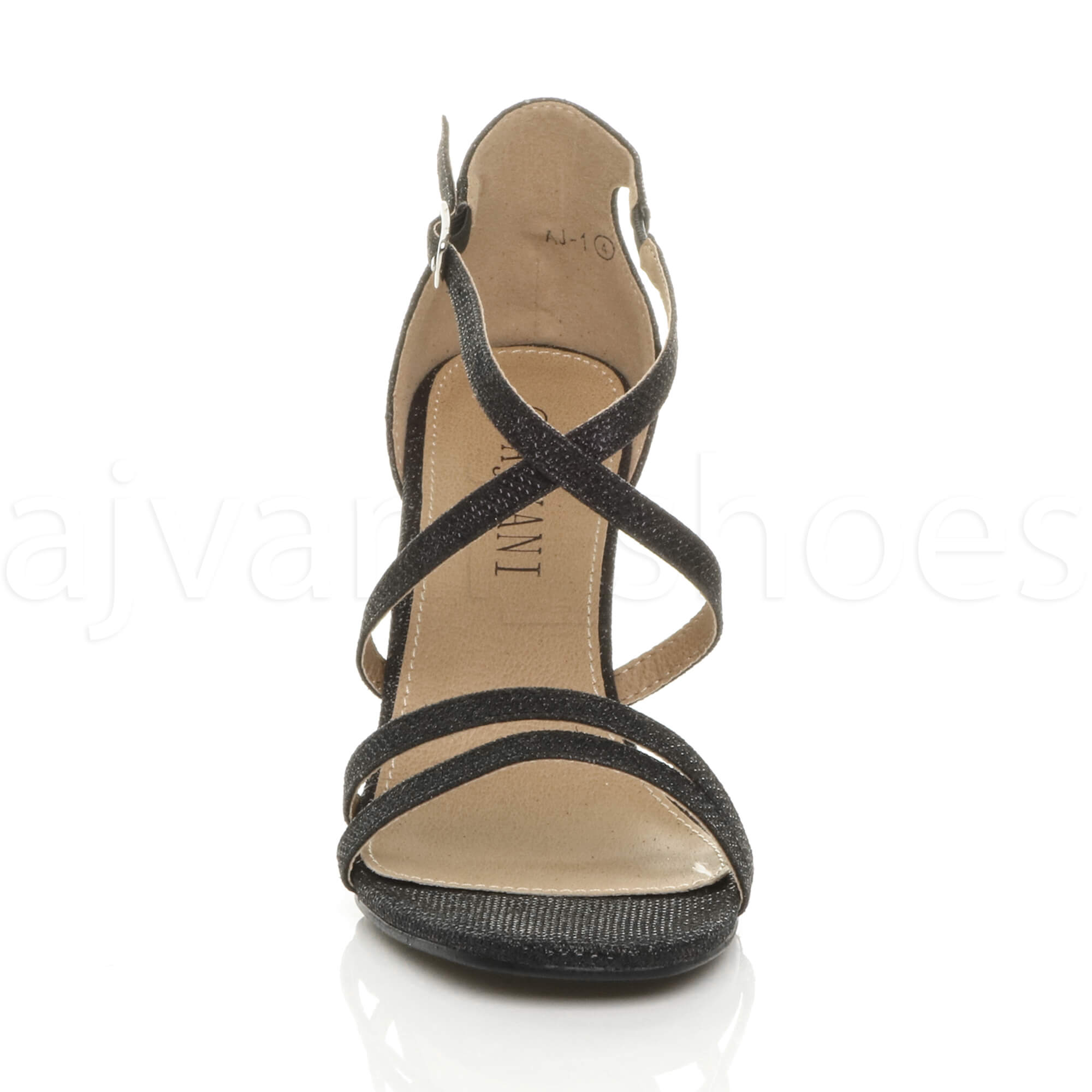 WOMENS-LADIES-MID-HIGH-HEEL-STRAPPY-CROSSOVER-WEDDING-PROM-SANDALS-SHOES-SIZE thumbnail 27