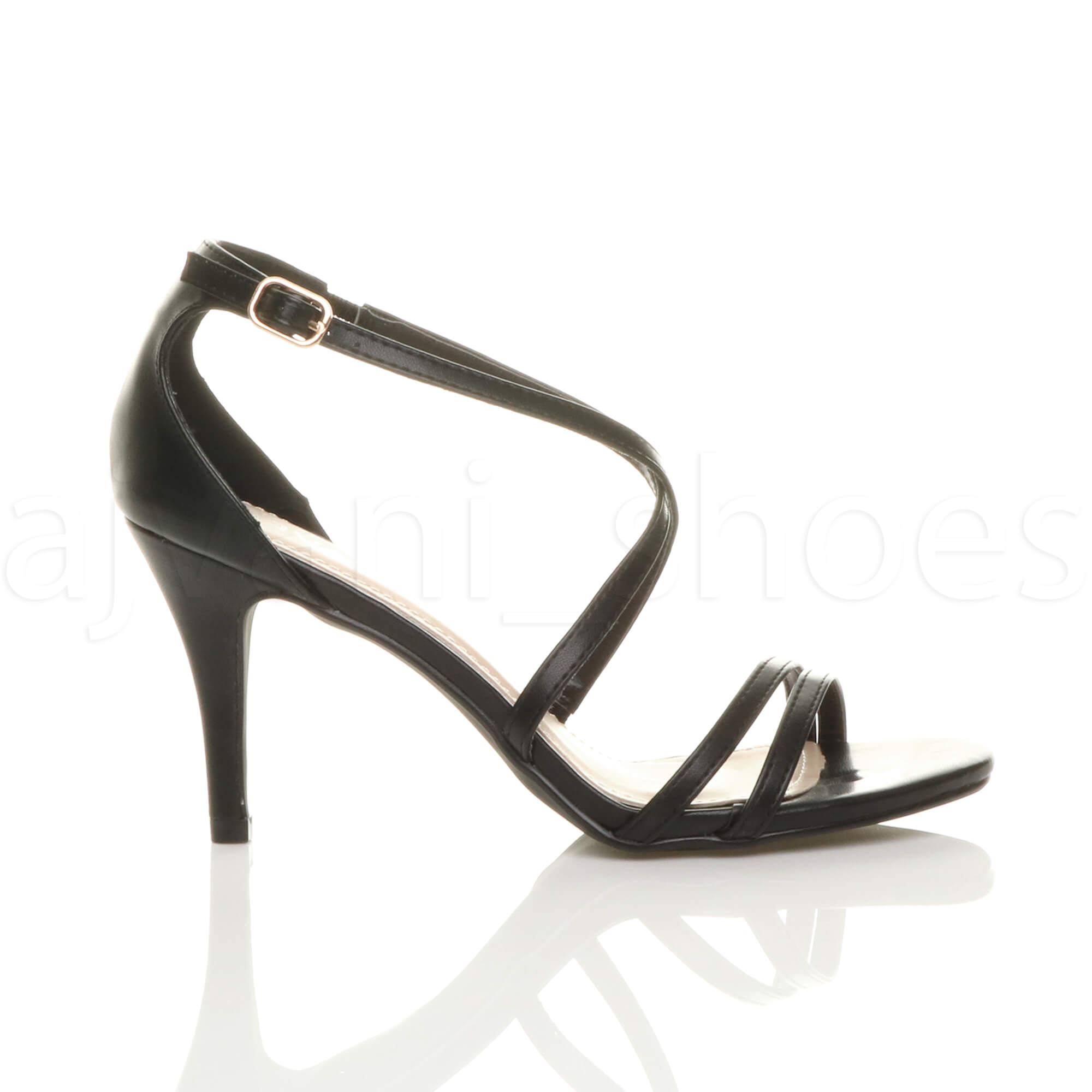 WOMENS-LADIES-MID-HIGH-HEEL-STRAPPY-CROSSOVER-WEDDING-PROM-SANDALS-SHOES-SIZE thumbnail 17