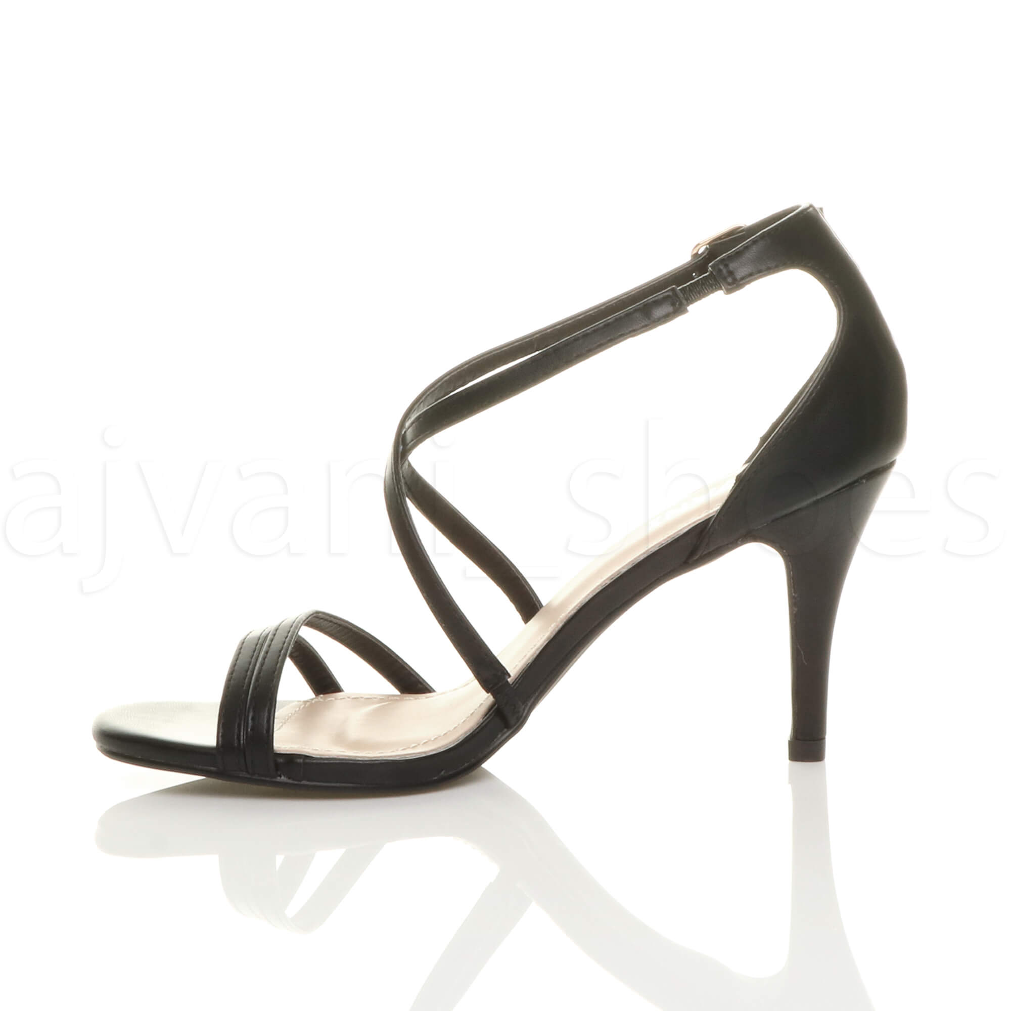 WOMENS-LADIES-MID-HIGH-HEEL-STRAPPY-CROSSOVER-WEDDING-PROM-SANDALS-SHOES-SIZE thumbnail 18