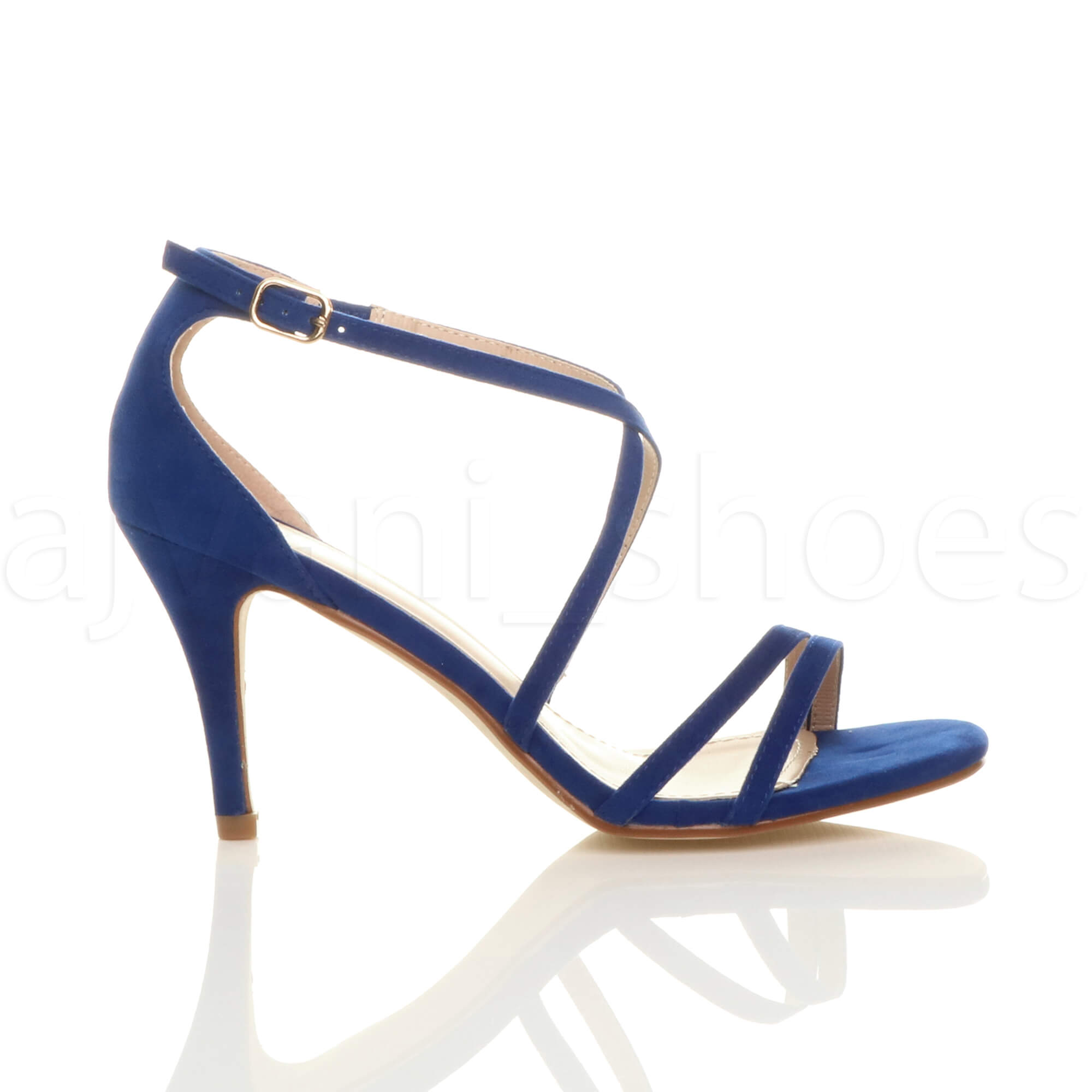 WOMENS-LADIES-MID-HIGH-HEEL-STRAPPY-CROSSOVER-WEDDING-PROM-SANDALS-SHOES-SIZE thumbnail 31