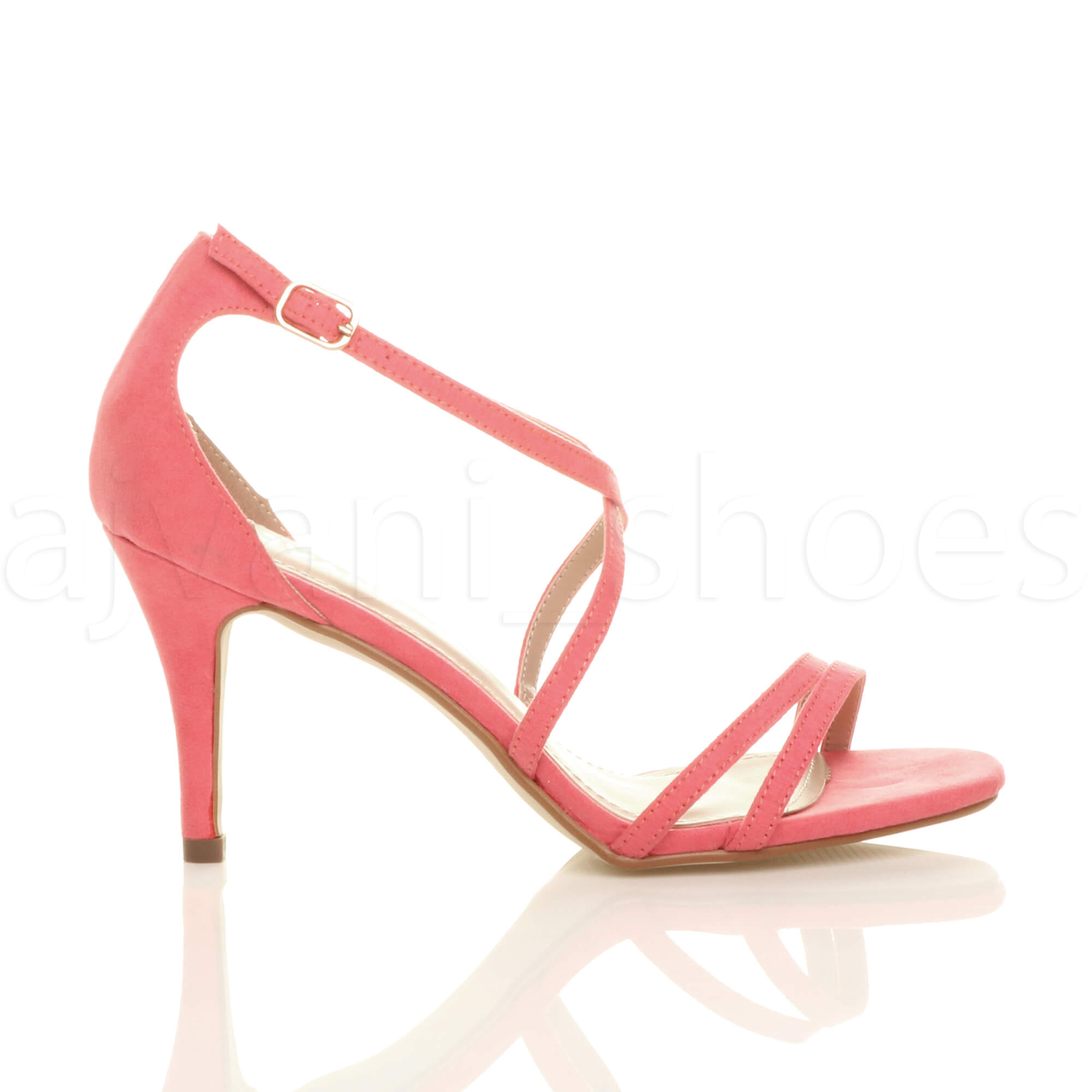 WOMENS-LADIES-MID-HIGH-HEEL-STRAPPY-CROSSOVER-WEDDING-PROM-SANDALS-SHOES-SIZE thumbnail 38
