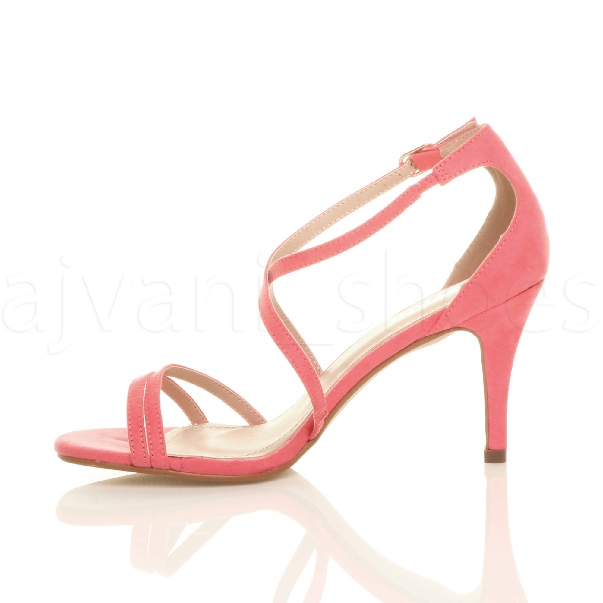 WOMENS-LADIES-MID-HIGH-HEEL-STRAPPY-CROSSOVER-WEDDING-PROM-SANDALS-SHOES-SIZE thumbnail 39