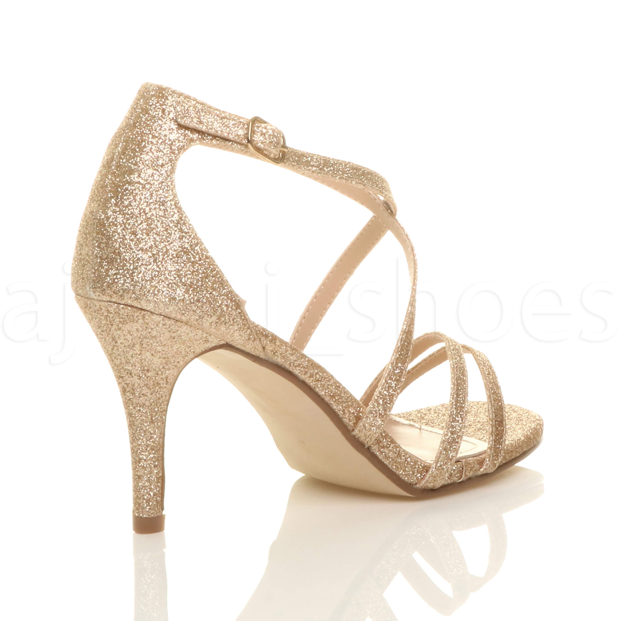 WOMENS-LADIES-MID-HIGH-HEEL-STRAPPY-CROSSOVER-WEDDING-PROM-SANDALS-SHOES-SIZE thumbnail 54