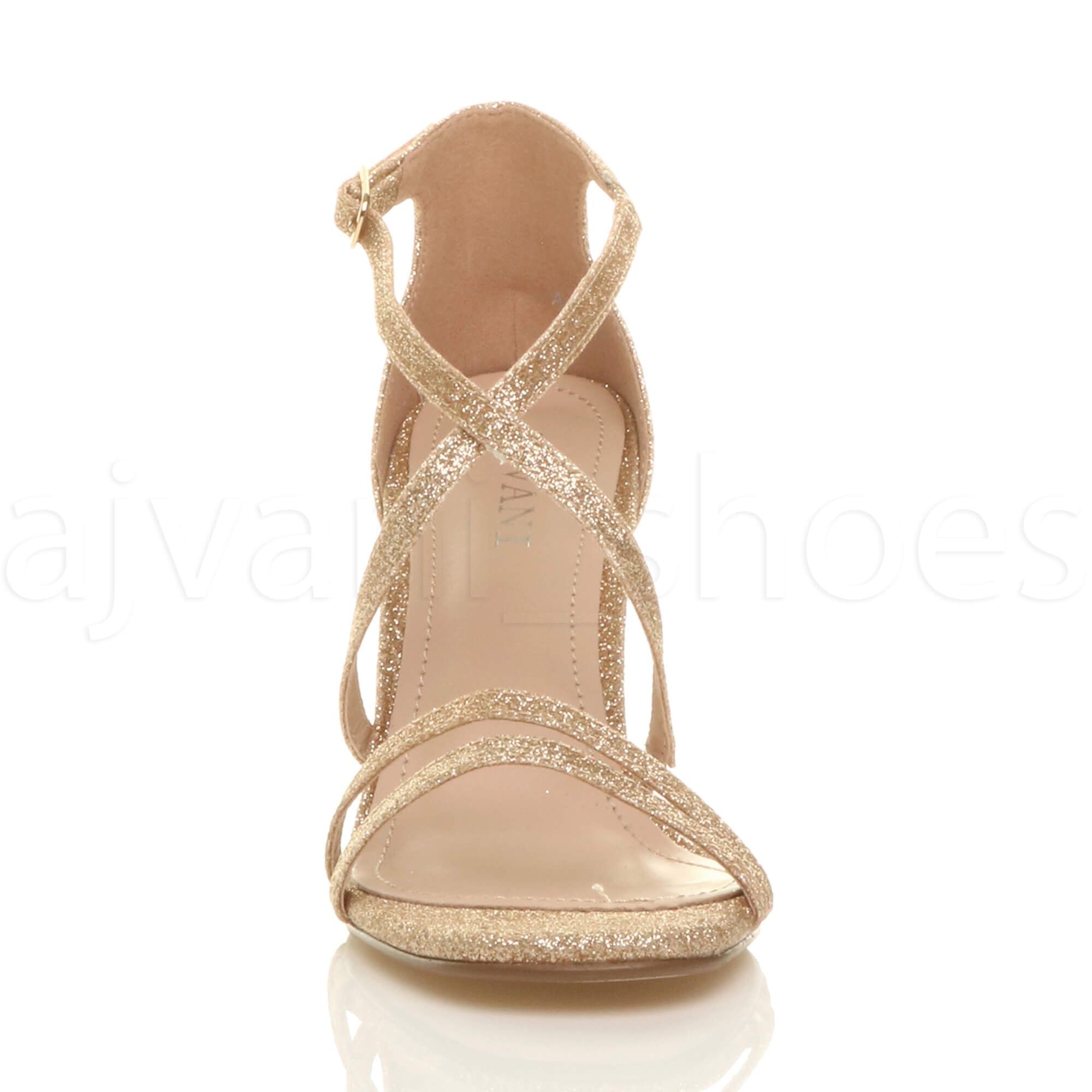WOMENS-LADIES-MID-HIGH-HEEL-STRAPPY-CROSSOVER-WEDDING-PROM-SANDALS-SHOES-SIZE thumbnail 55