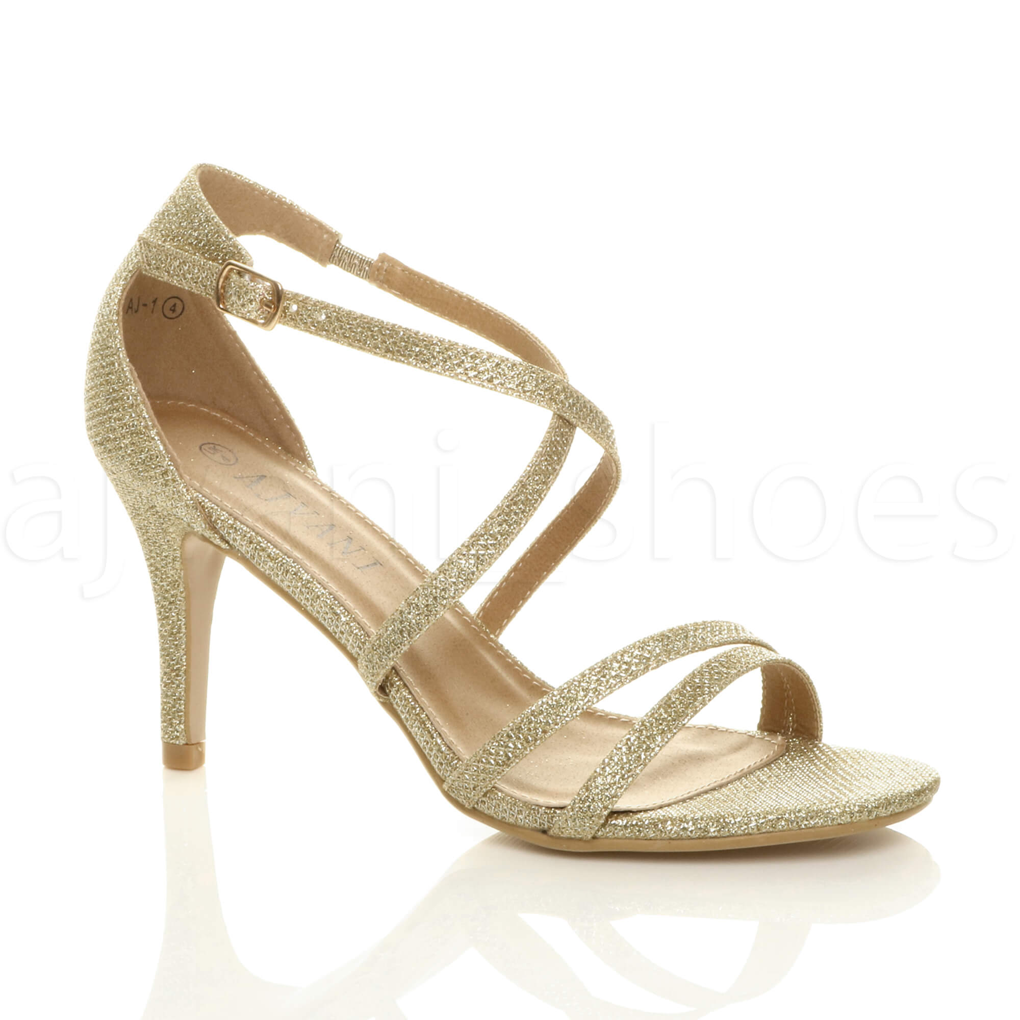 WOMENS-LADIES-MID-HIGH-HEEL-STRAPPY-CROSSOVER-WEDDING-PROM-SANDALS-SHOES-SIZE thumbnail 72