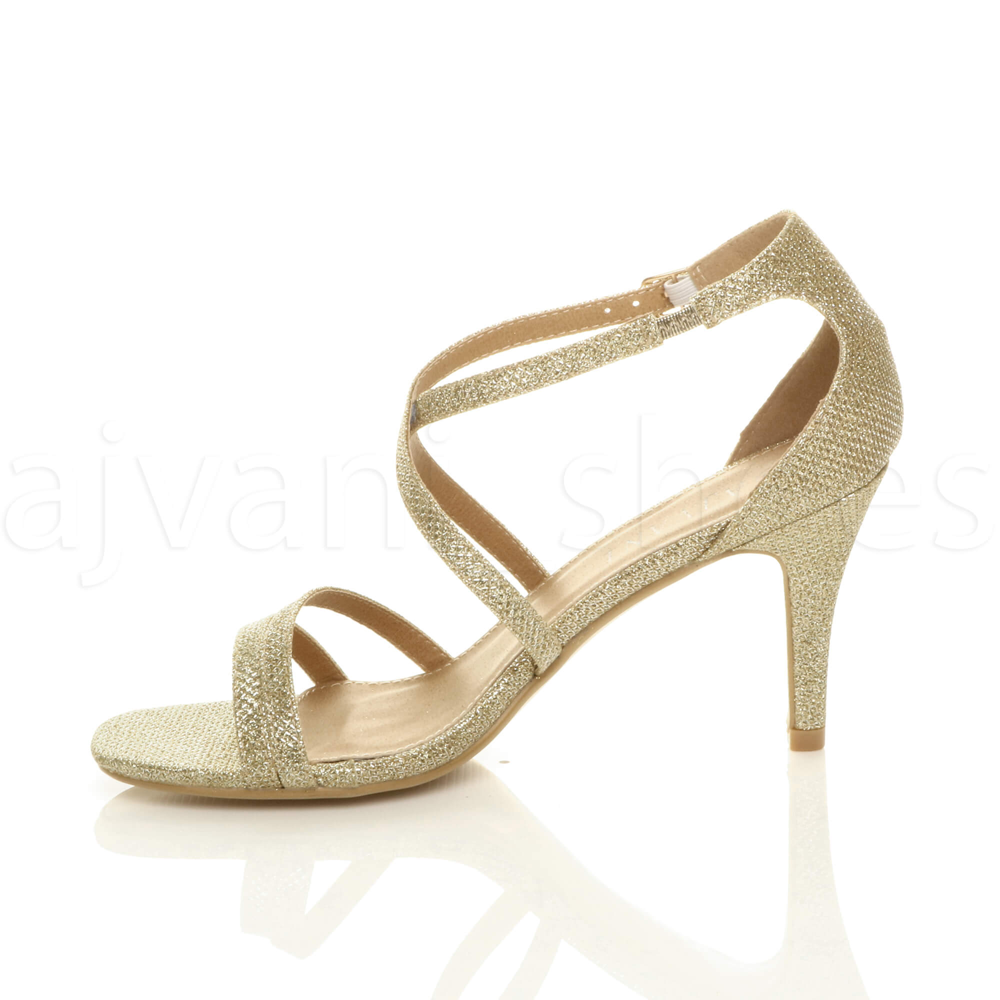 WOMENS-LADIES-MID-HIGH-HEEL-STRAPPY-CROSSOVER-WEDDING-PROM-SANDALS-SHOES-SIZE thumbnail 74