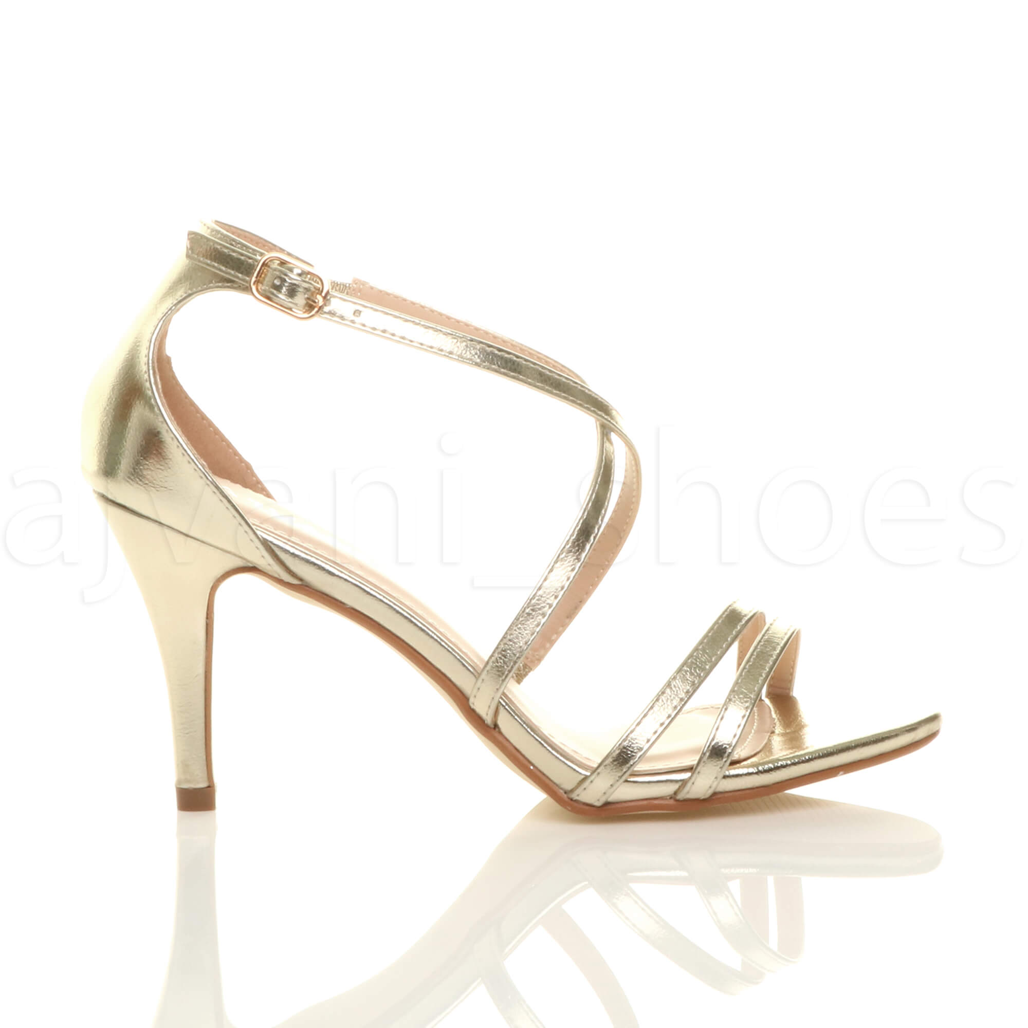 WOMENS-LADIES-MID-HIGH-HEEL-STRAPPY-CROSSOVER-WEDDING-PROM-SANDALS-SHOES-SIZE thumbnail 59
