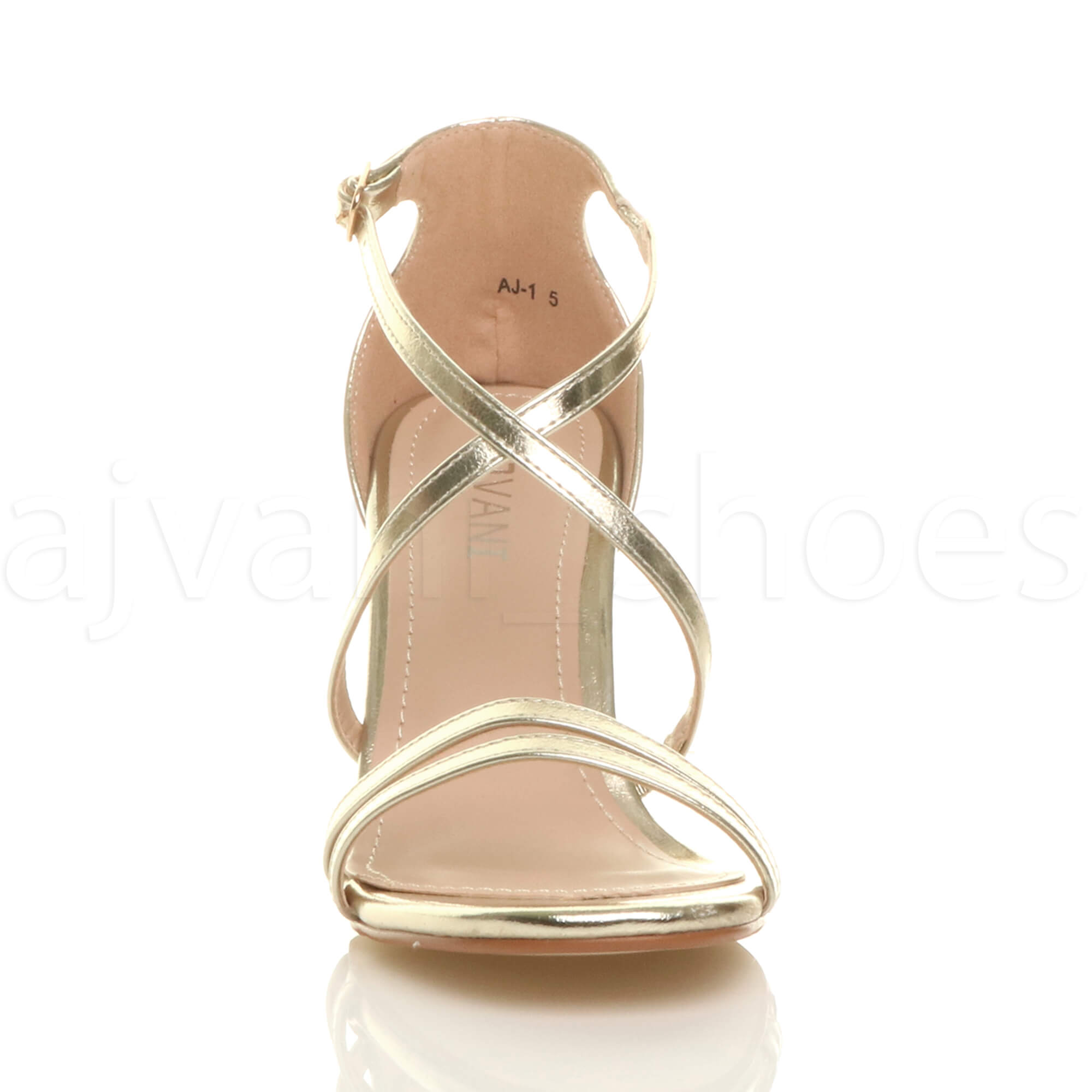 WOMENS-LADIES-MID-HIGH-HEEL-STRAPPY-CROSSOVER-WEDDING-PROM-SANDALS-SHOES-SIZE thumbnail 62