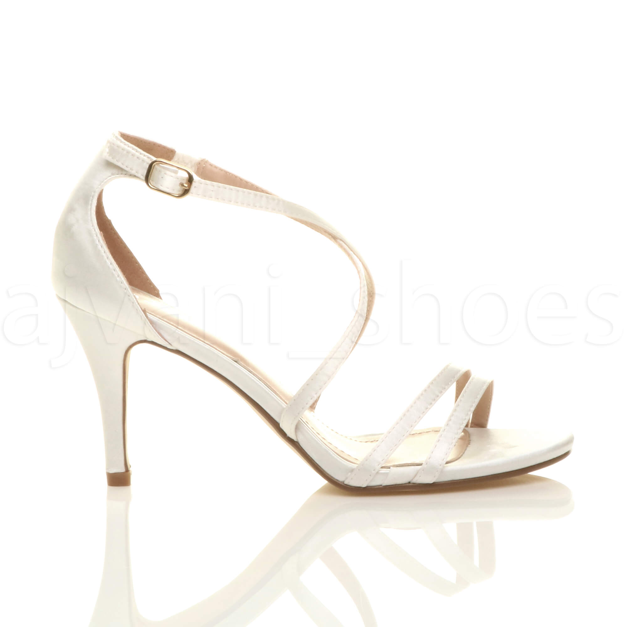 WOMENS-LADIES-MID-HIGH-HEEL-STRAPPY-CROSSOVER-WEDDING-PROM-SANDALS-SHOES-SIZE thumbnail 66