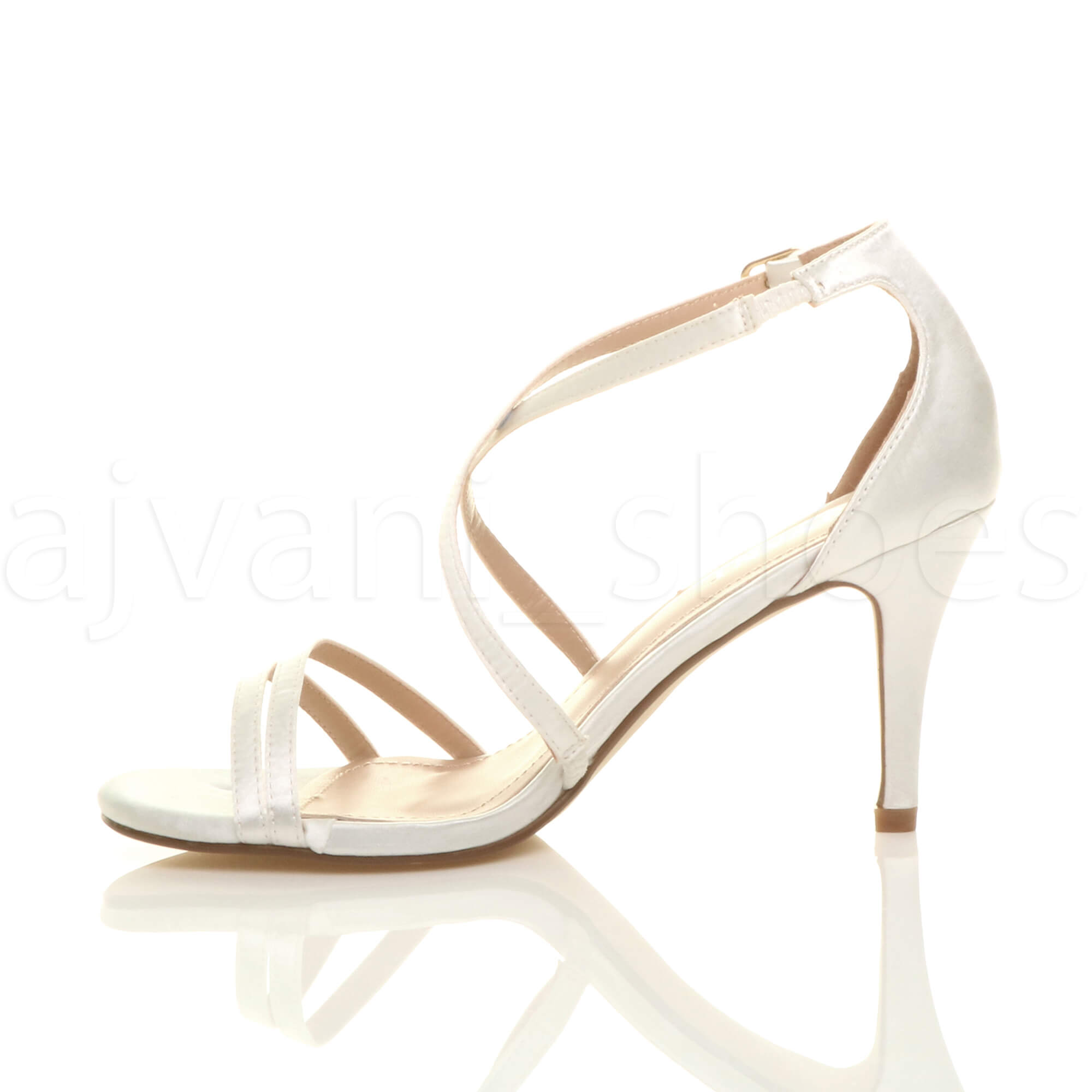 WOMENS-LADIES-MID-HIGH-HEEL-STRAPPY-CROSSOVER-WEDDING-PROM-SANDALS-SHOES-SIZE thumbnail 67