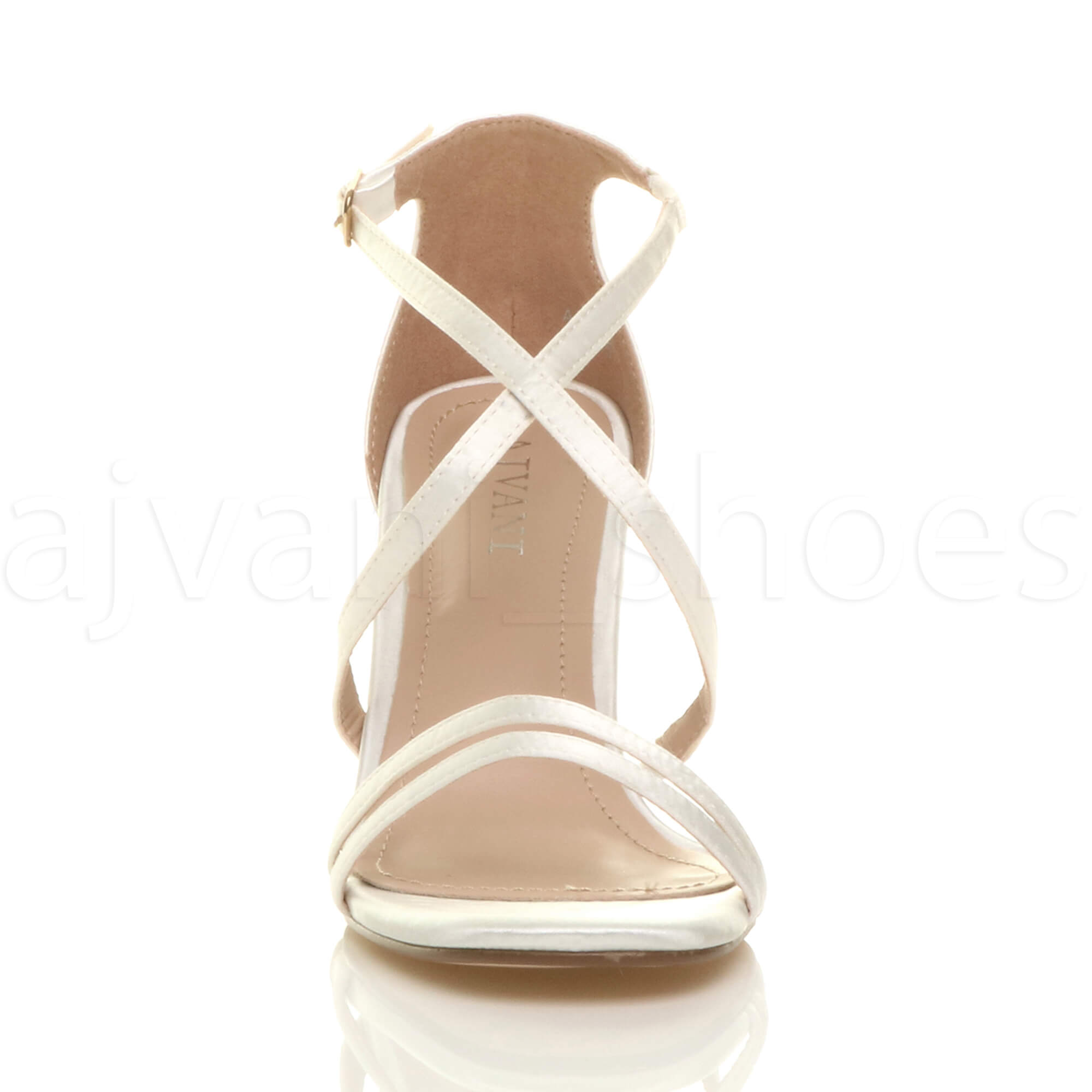 WOMENS-LADIES-MID-HIGH-HEEL-STRAPPY-CROSSOVER-WEDDING-PROM-SANDALS-SHOES-SIZE thumbnail 69