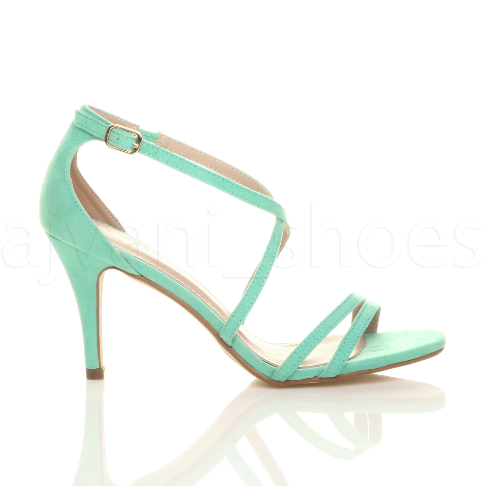 WOMENS-LADIES-MID-HIGH-HEEL-STRAPPY-CROSSOVER-WEDDING-PROM-SANDALS-SHOES-SIZE thumbnail 73