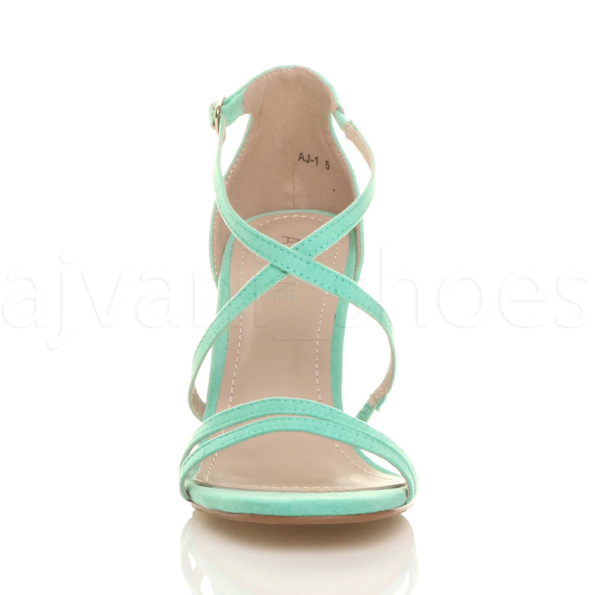 WOMENS-LADIES-MID-HIGH-HEEL-STRAPPY-CROSSOVER-WEDDING-PROM-SANDALS-SHOES-SIZE thumbnail 76