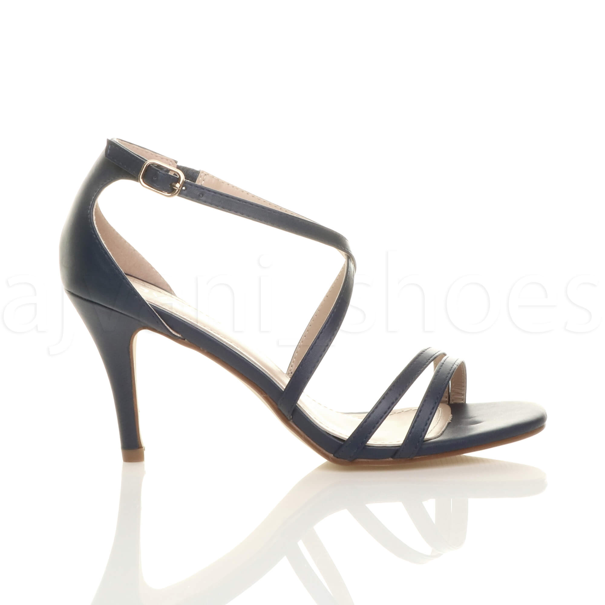 WOMENS-LADIES-MID-HIGH-HEEL-STRAPPY-CROSSOVER-WEDDING-PROM-SANDALS-SHOES-SIZE thumbnail 80