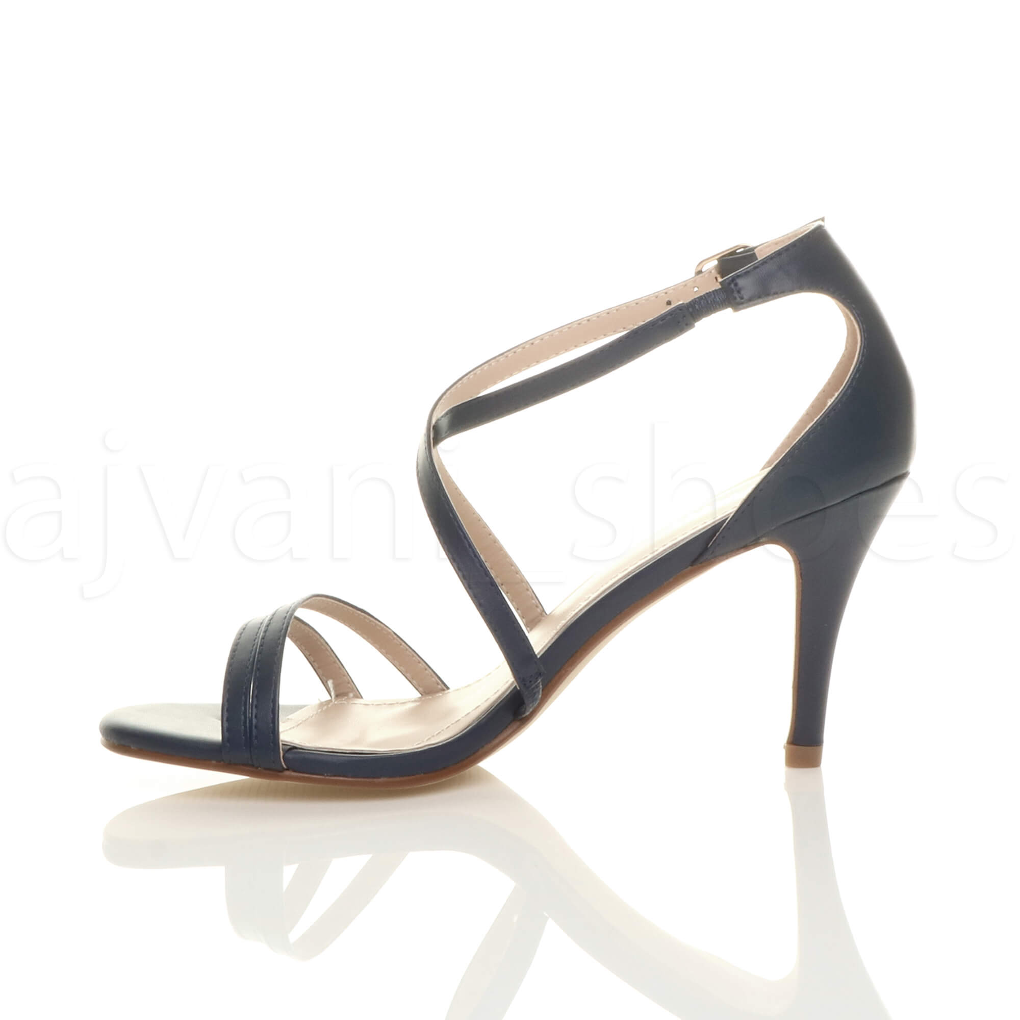 WOMENS-LADIES-MID-HIGH-HEEL-STRAPPY-CROSSOVER-WEDDING-PROM-SANDALS-SHOES-SIZE thumbnail 81