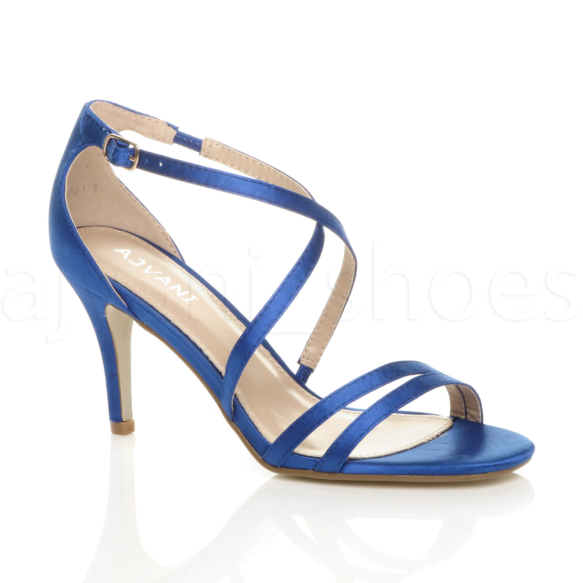 WOMENS-LADIES-MID-HIGH-HEEL-STRAPPY-CROSSOVER-WEDDING-PROM-SANDALS-SHOES-SIZE thumbnail 100
