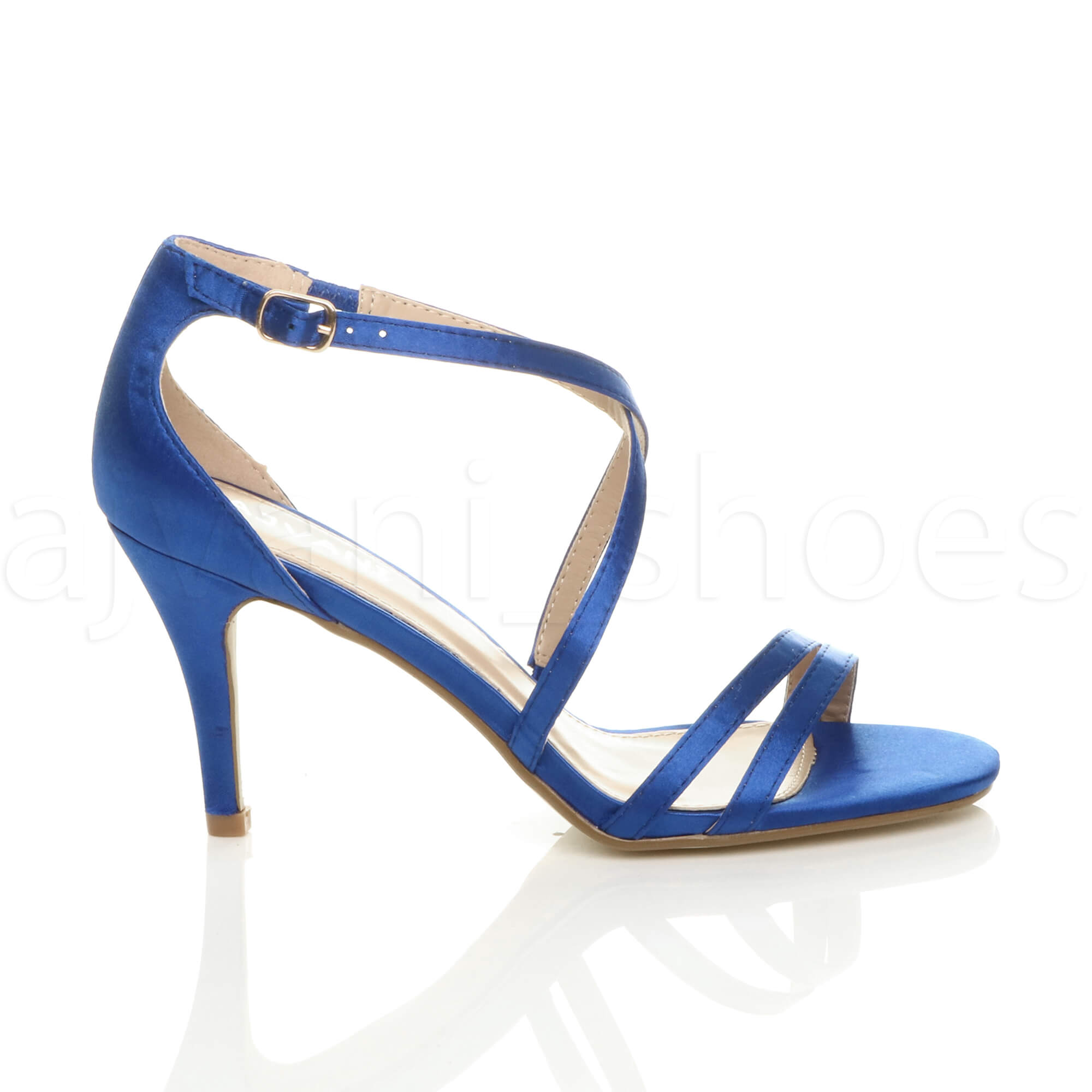 WOMENS-LADIES-MID-HIGH-HEEL-STRAPPY-CROSSOVER-WEDDING-PROM-SANDALS-SHOES-SIZE thumbnail 101
