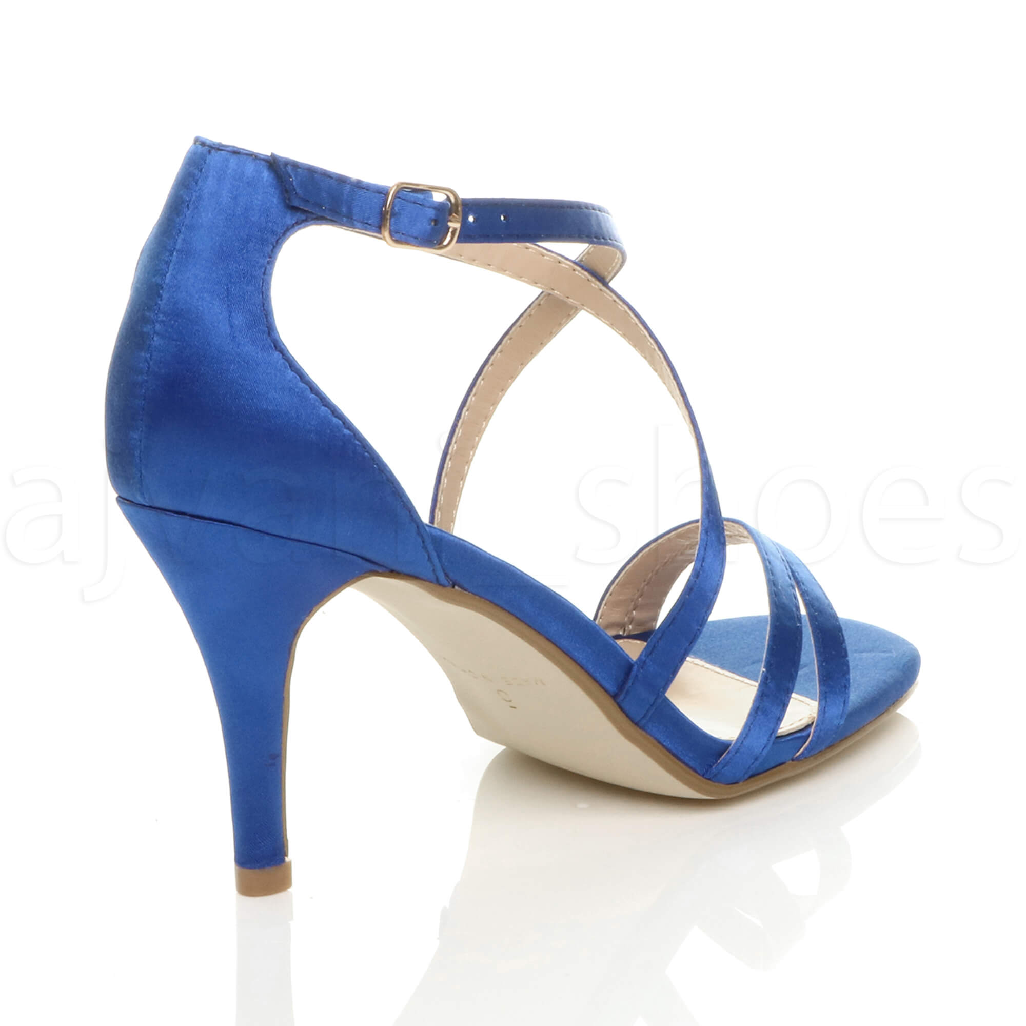 WOMENS-LADIES-MID-HIGH-HEEL-STRAPPY-CROSSOVER-WEDDING-PROM-SANDALS-SHOES-SIZE thumbnail 103
