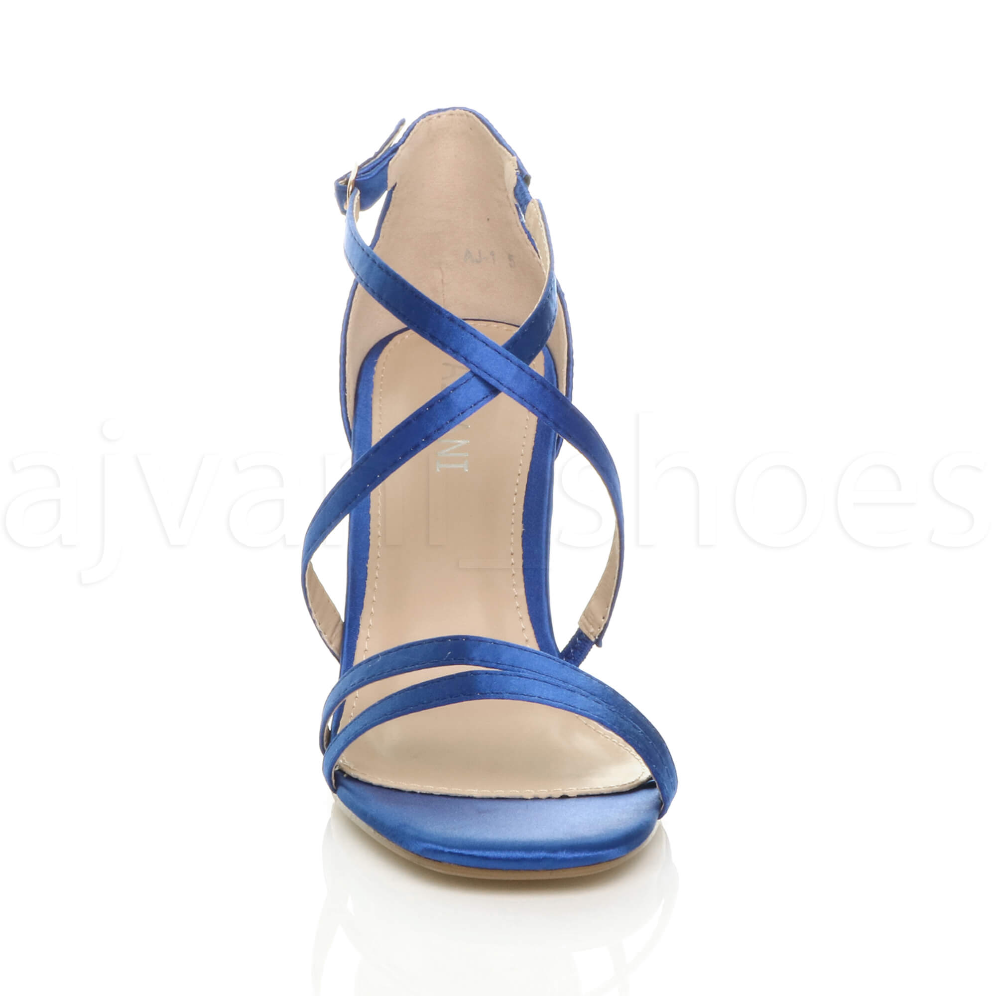 WOMENS-LADIES-MID-HIGH-HEEL-STRAPPY-CROSSOVER-WEDDING-PROM-SANDALS-SHOES-SIZE thumbnail 104