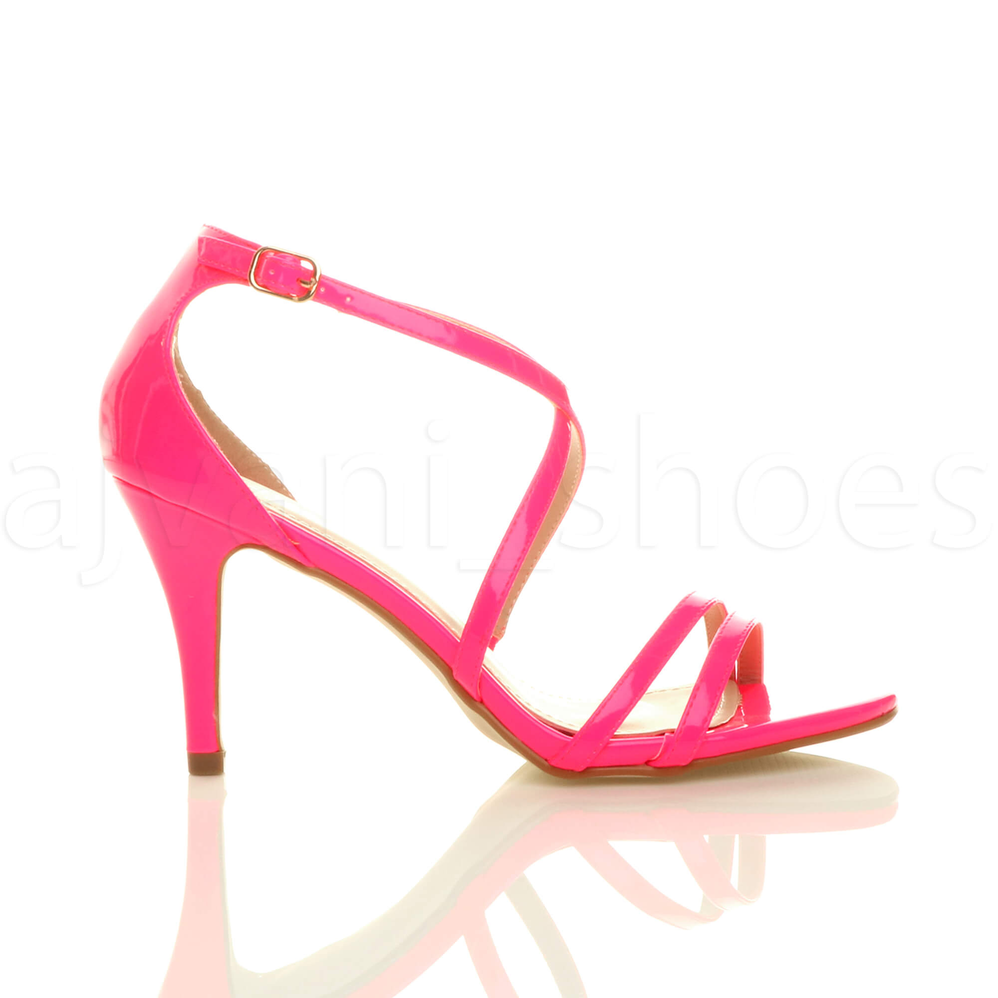 WOMENS-LADIES-MID-HIGH-HEEL-STRAPPY-CROSSOVER-WEDDING-PROM-SANDALS-SHOES-SIZE thumbnail 94