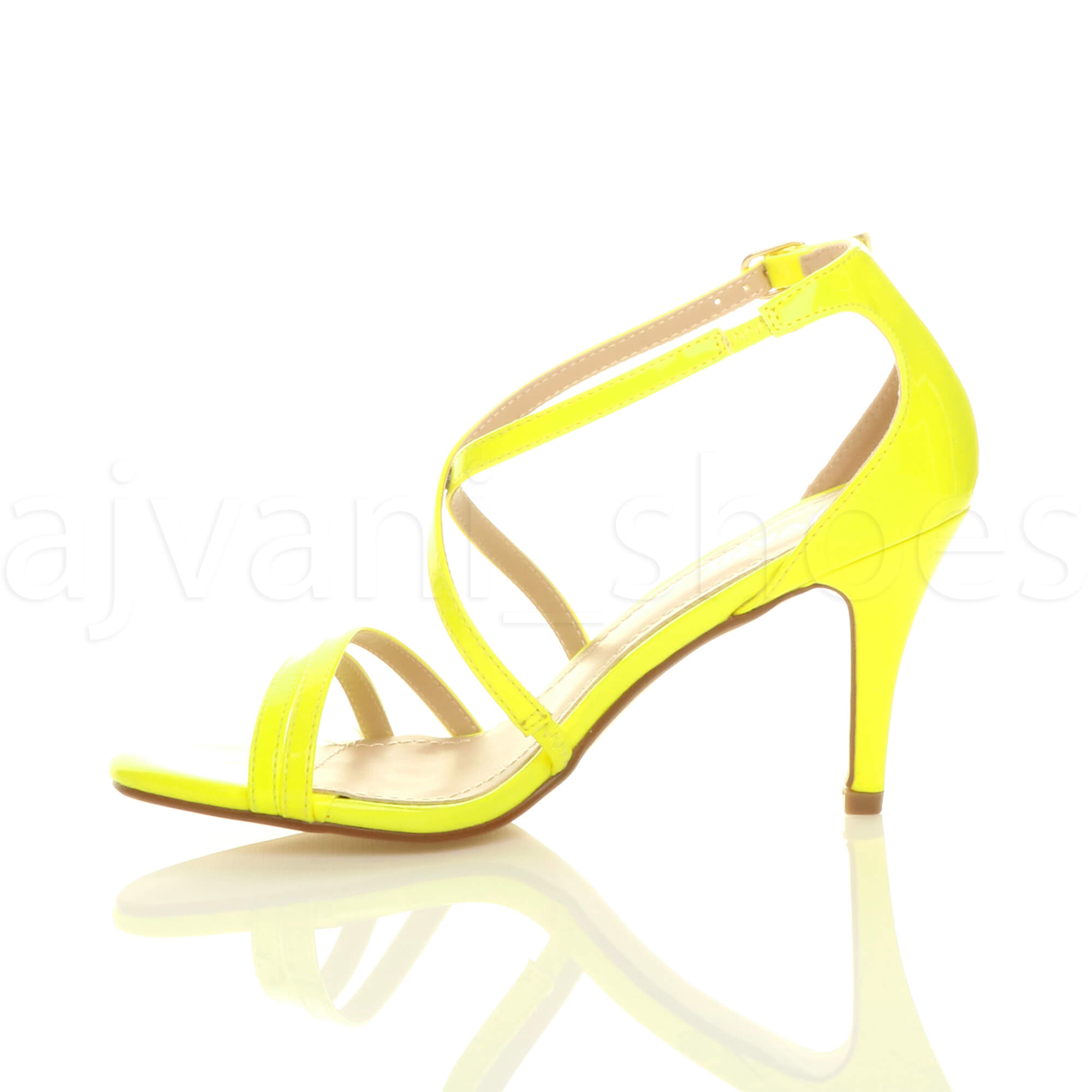 WOMENS-LADIES-MID-HIGH-HEEL-STRAPPY-CROSSOVER-WEDDING-PROM-SANDALS-SHOES-SIZE thumbnail 102