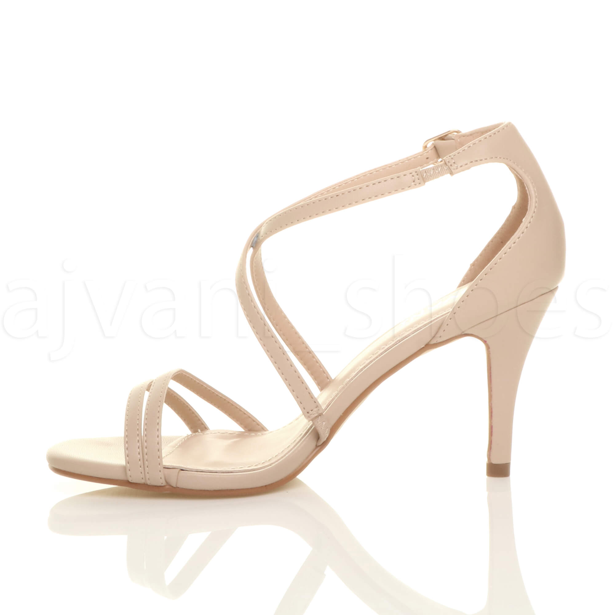 WOMENS-LADIES-MID-HIGH-HEEL-STRAPPY-CROSSOVER-WEDDING-PROM-SANDALS-SHOES-SIZE thumbnail 109