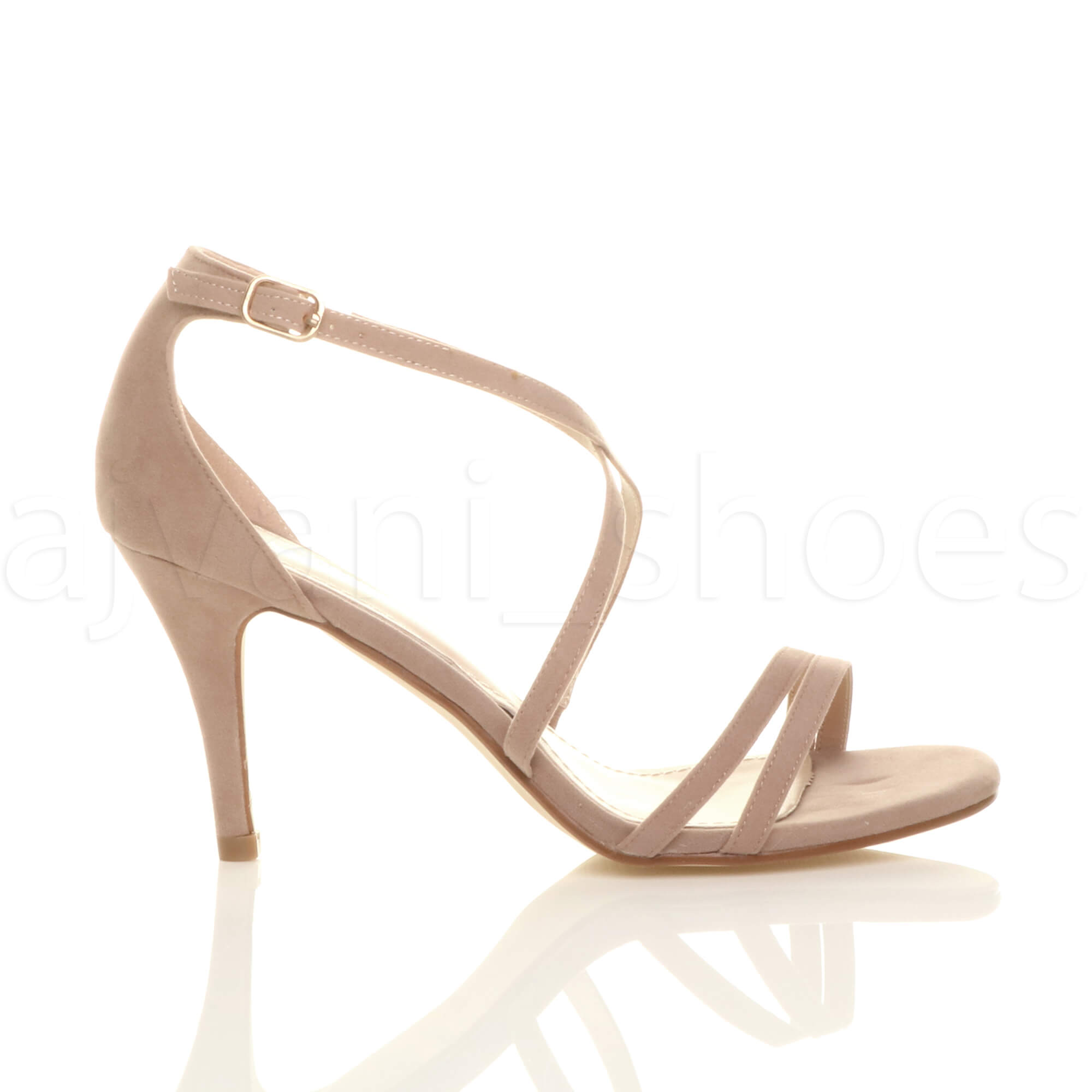 WOMENS-LADIES-MID-HIGH-HEEL-STRAPPY-CROSSOVER-WEDDING-PROM-SANDALS-SHOES-SIZE thumbnail 115