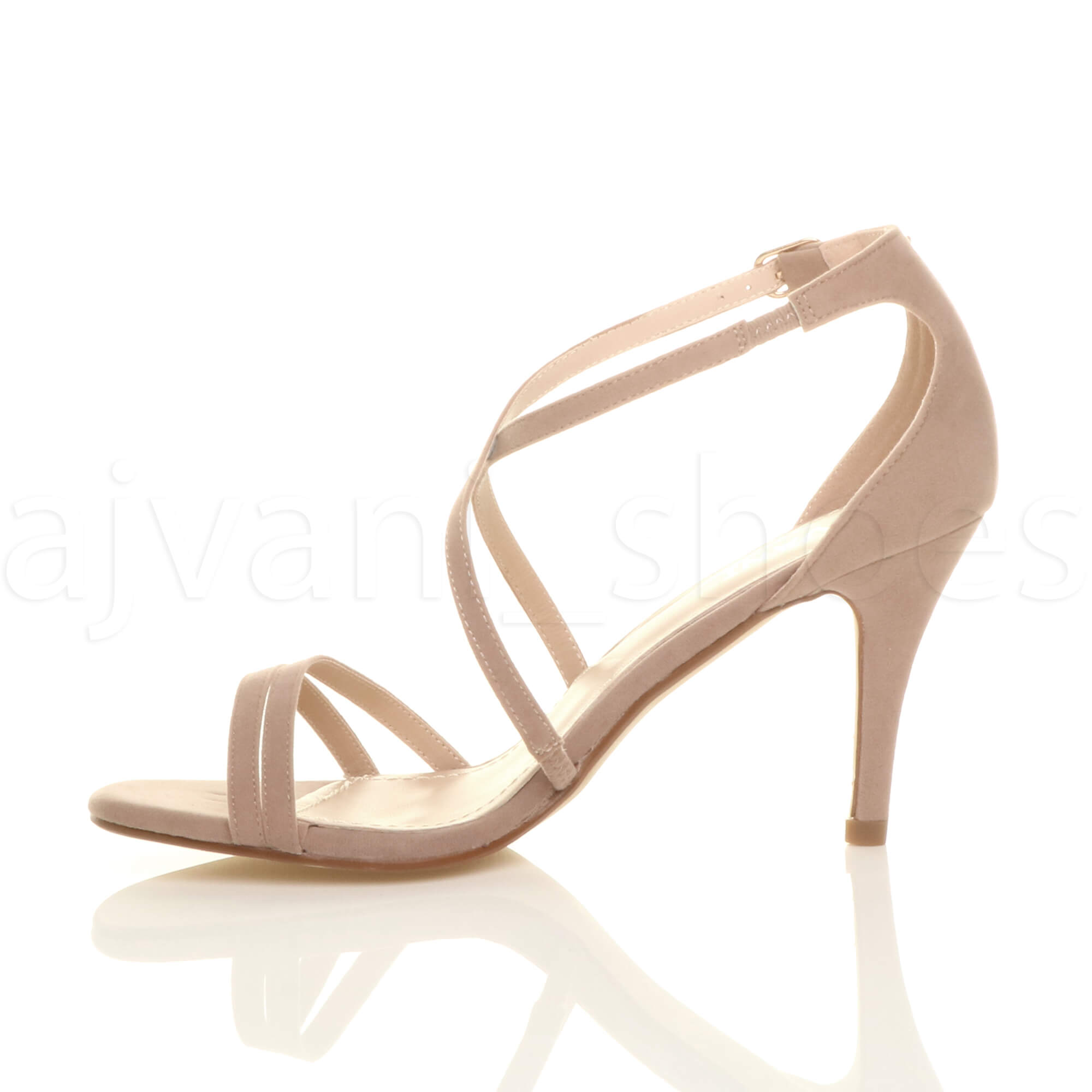 WOMENS-LADIES-MID-HIGH-HEEL-STRAPPY-CROSSOVER-WEDDING-PROM-SANDALS-SHOES-SIZE thumbnail 116